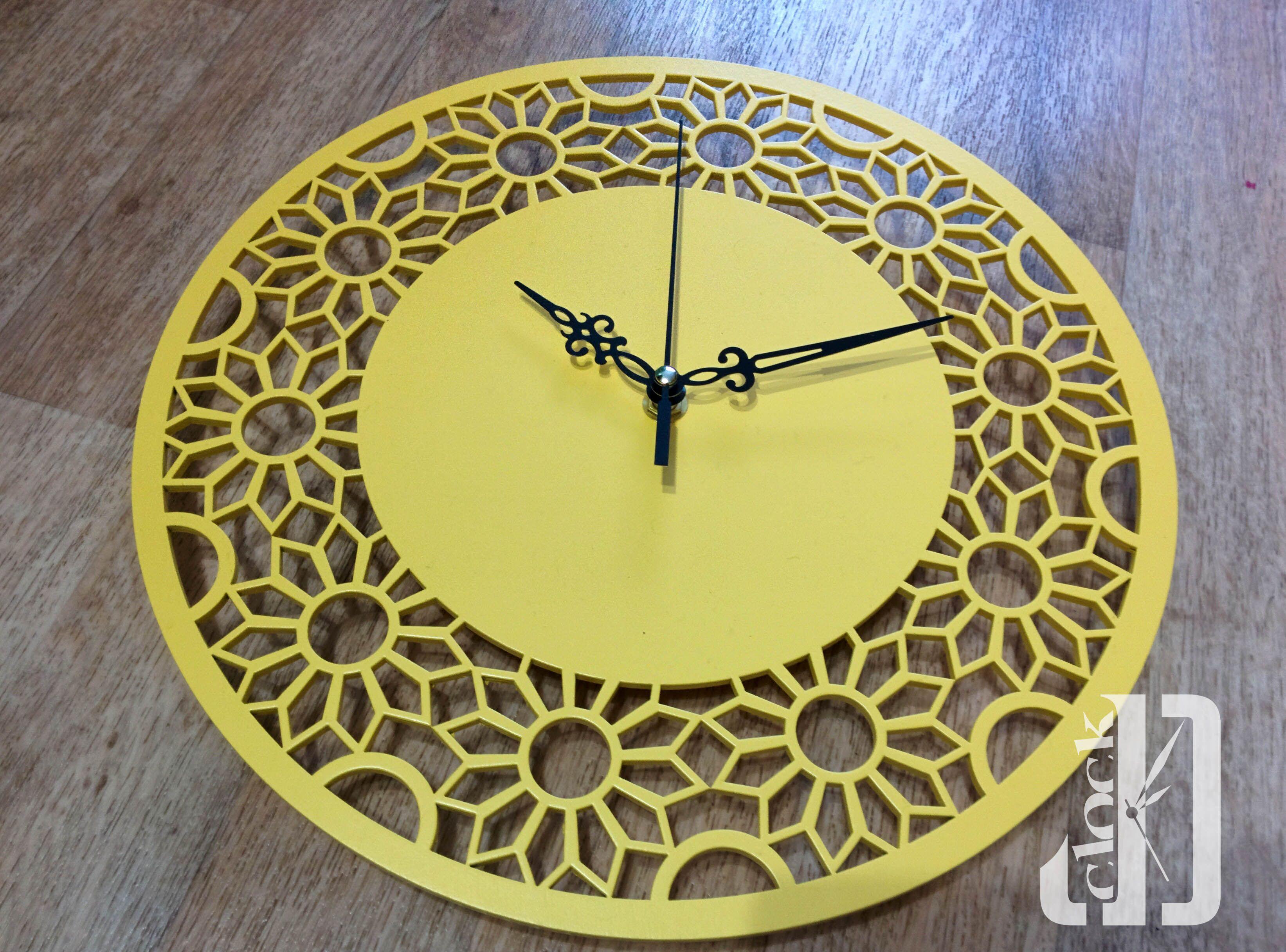 резные лазер лофт фанера деревянные настенные часы орнамент интерьер ручная декор работа желтые