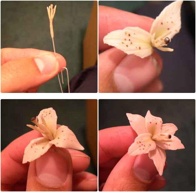 Цветы из полимерной глины 20