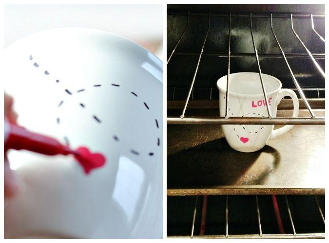 стеклу керамике кружке по и подарки день валентина роспись на кружка чашка святого руками своими