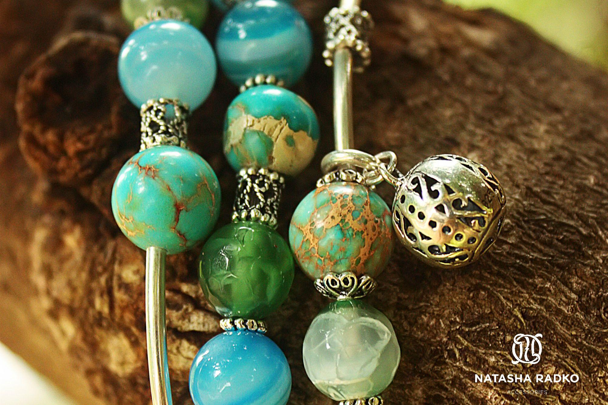 изумрудный украшение браслет агат натуральные камни подарок варисцит