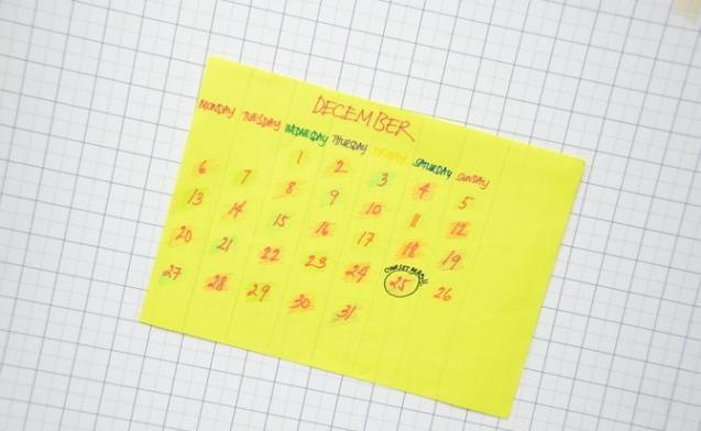 Календарь на год своими руками 1