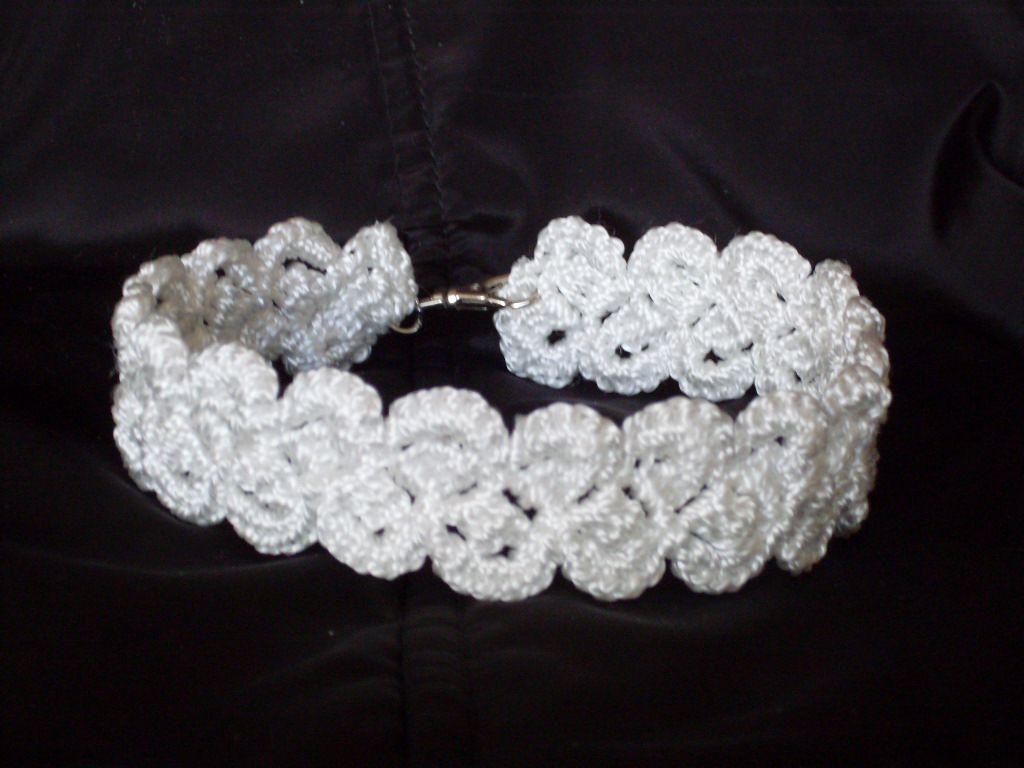 колье вязаный на чокер украшение шею вязаное женский