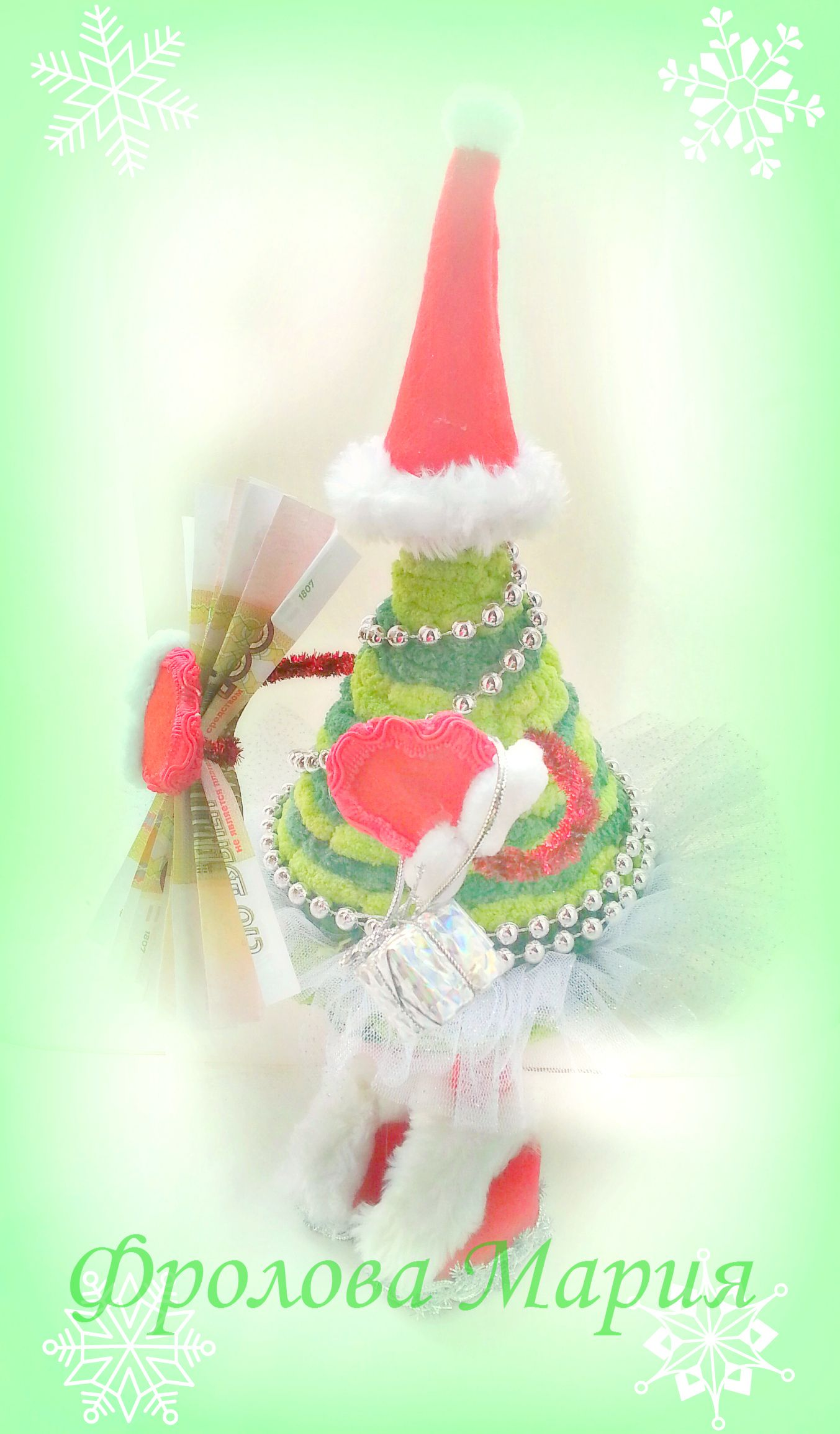 подарок новыйгод праздник 2017 красноярск новогодниеукрашения handmade елка канзаши дедмороз