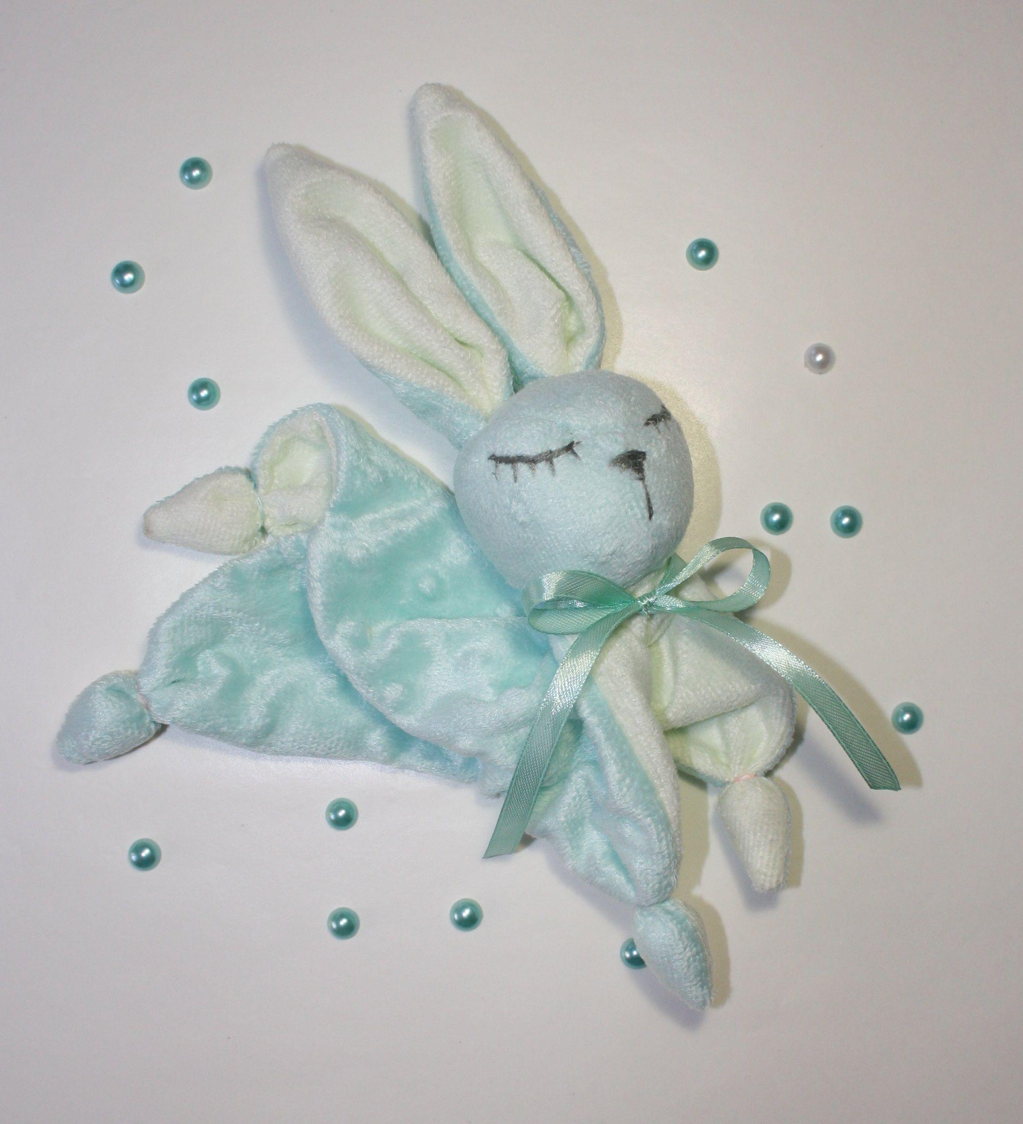 плюш игрушка сплюшка комфортер зайчик зайка подарок новорожденным