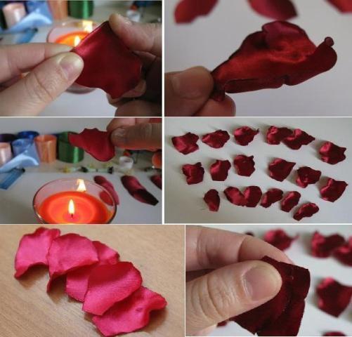 Цветы из атласных лент своими руками 6
