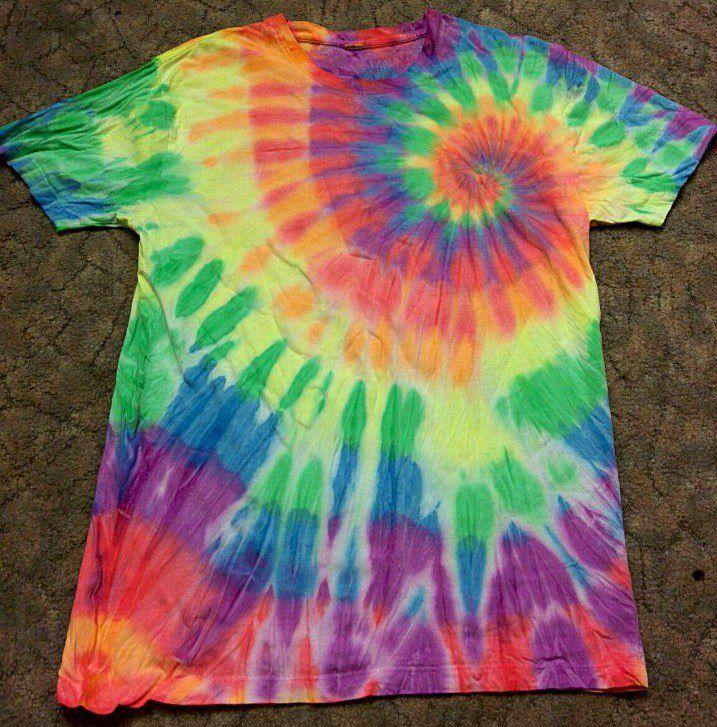 работа радуга футболка ручная батик тайдай ультрафиолет