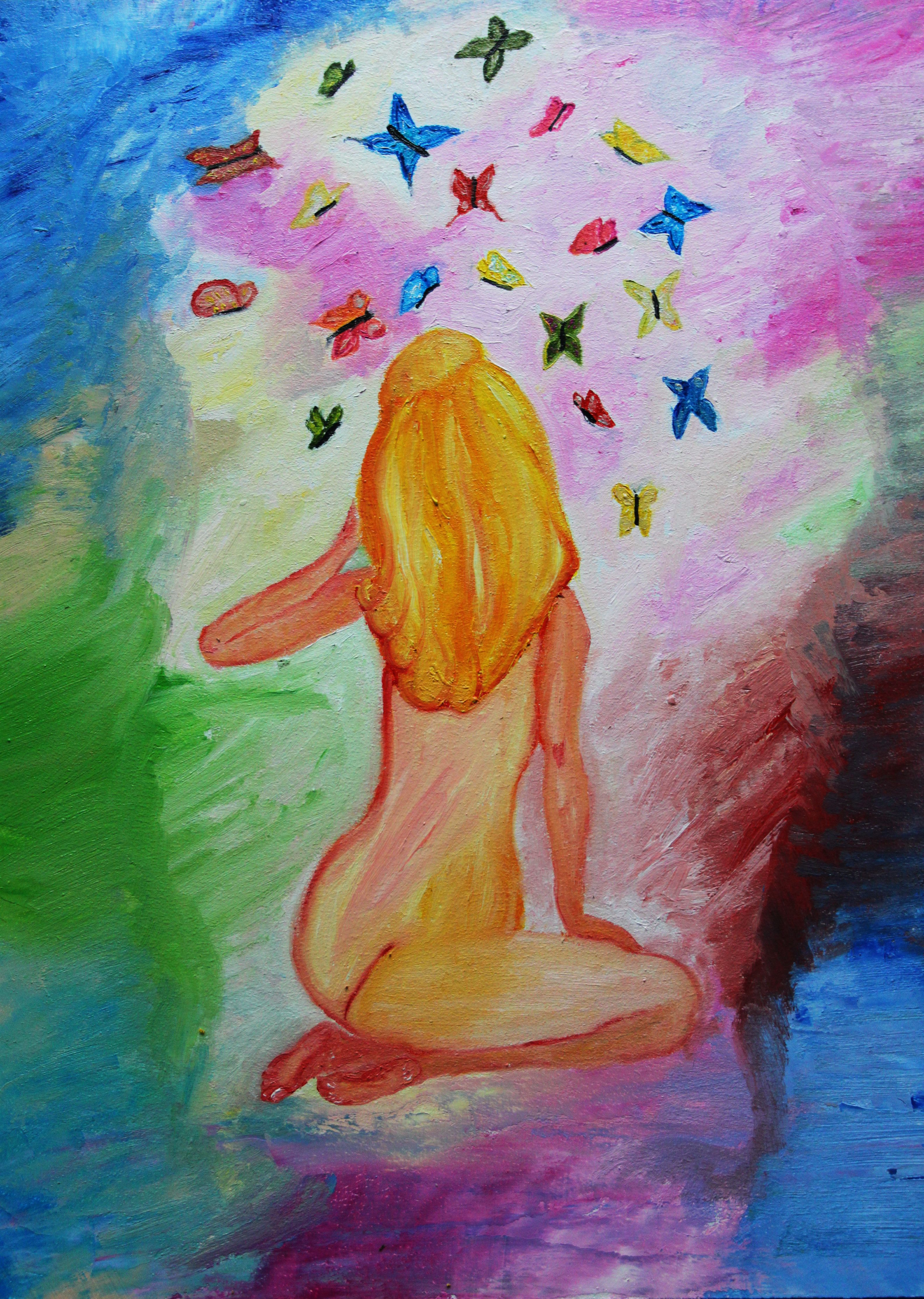 девочка мечта картина