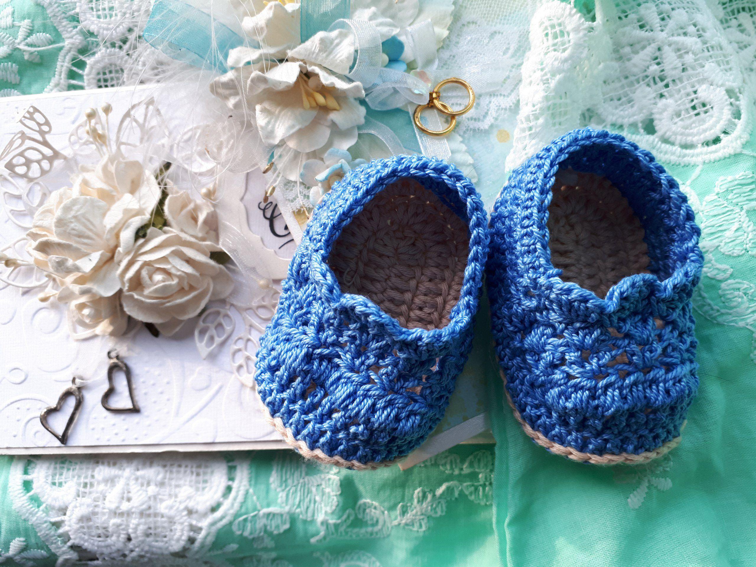 новорожденным вязаная_одежда пинетки малышам вязание