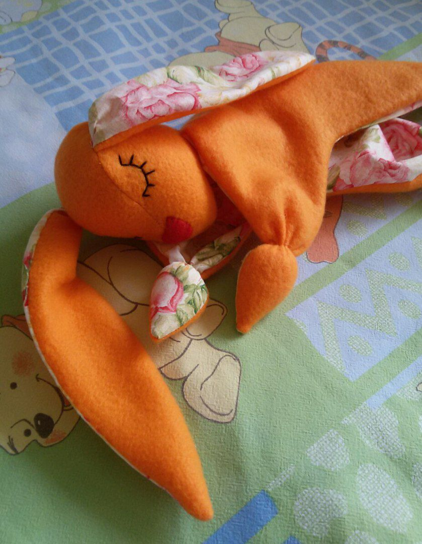 комфортер ребенок игрушка зайка флис подарок