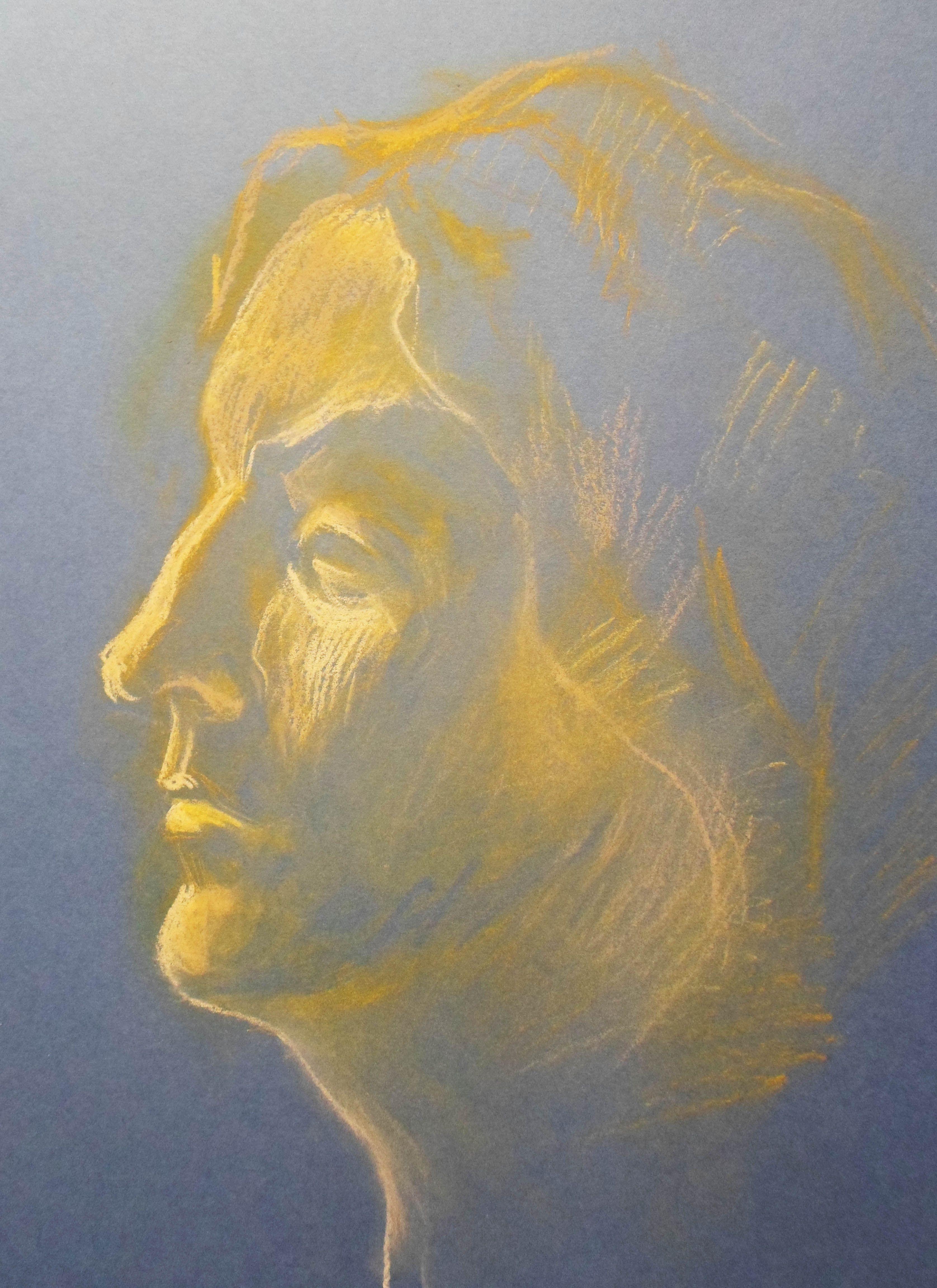 современное портрет искусство пастель изобразительное мужчина