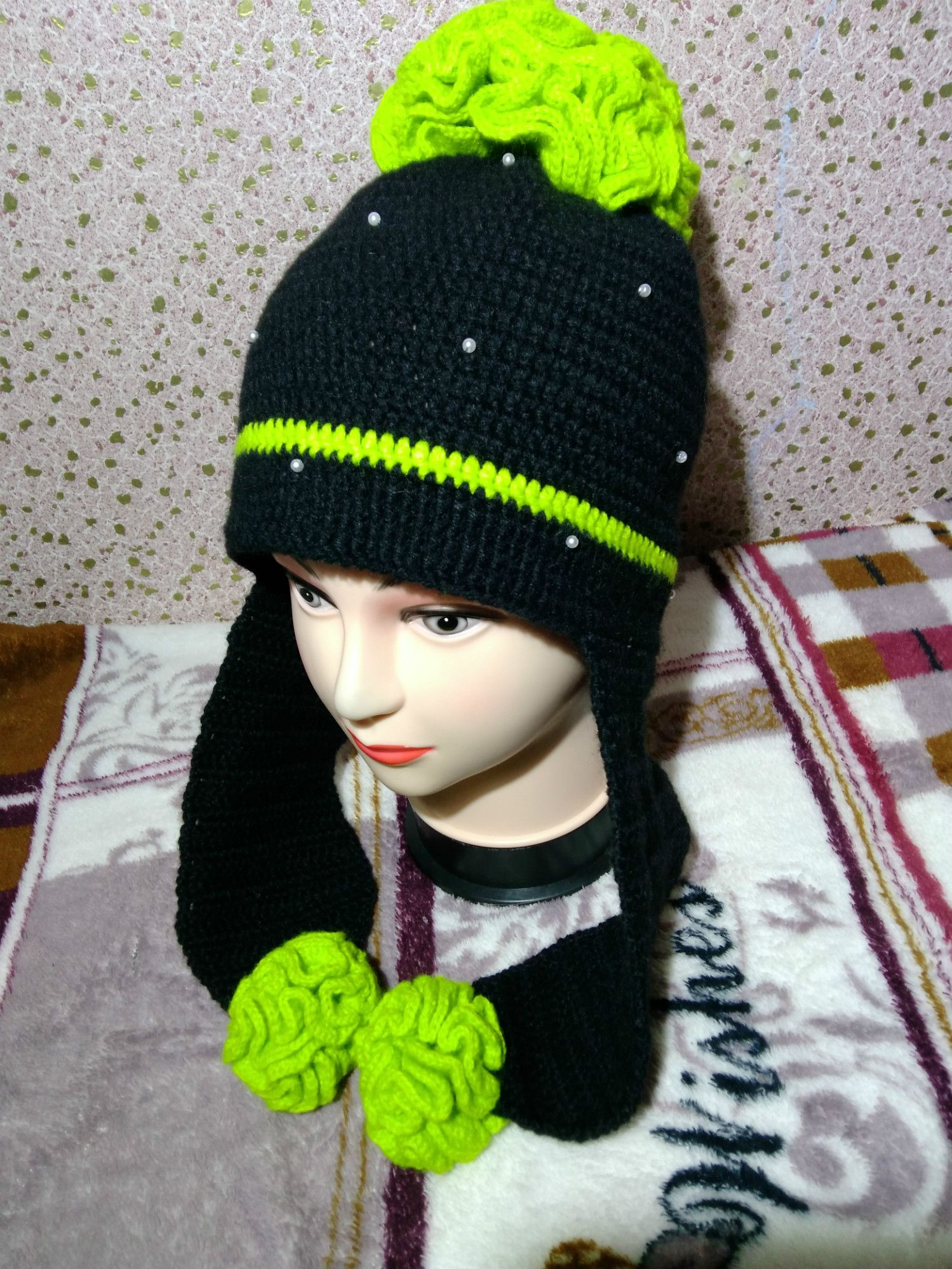 ручнаяработа вязание заказ шапка хендмейд крючком