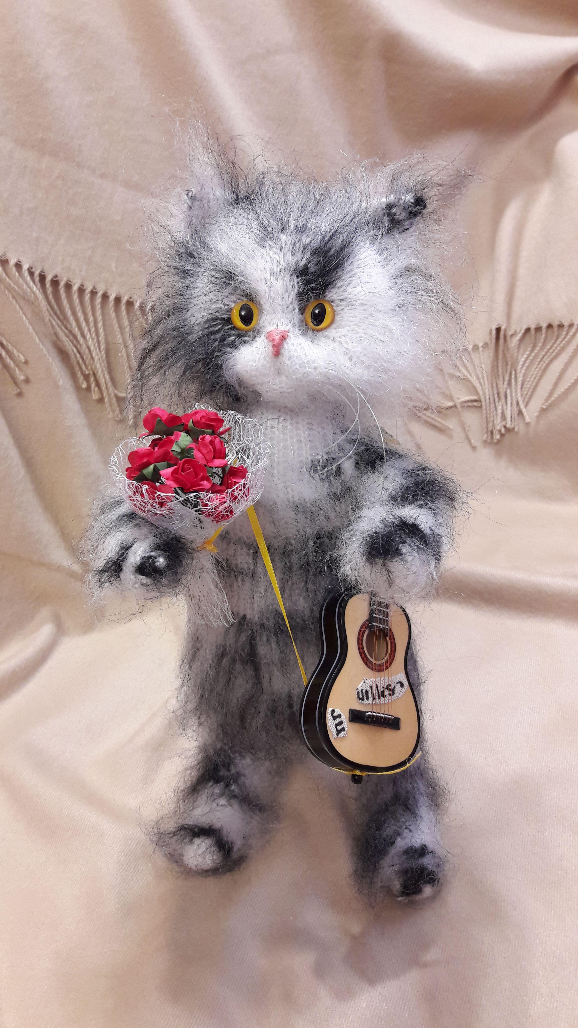 кот игрушка вязание подарок интерьерная