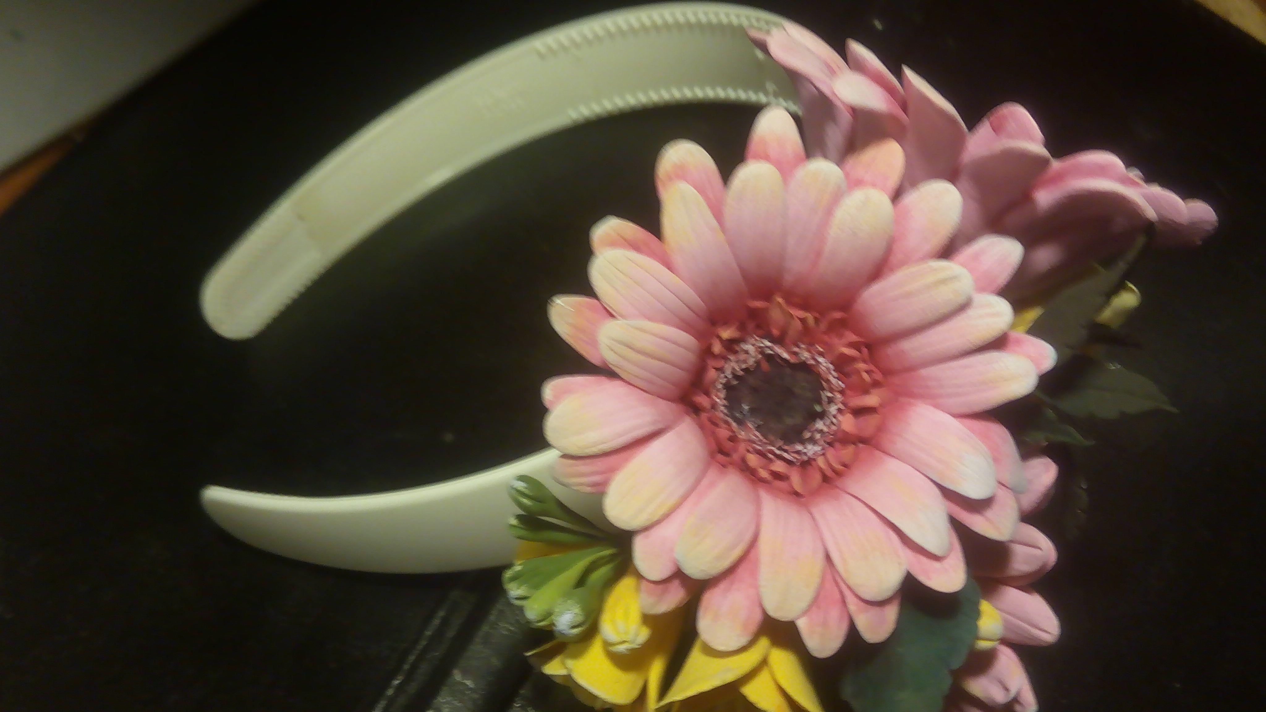 форфор подаоки холодный ободок украшения цветы причёски