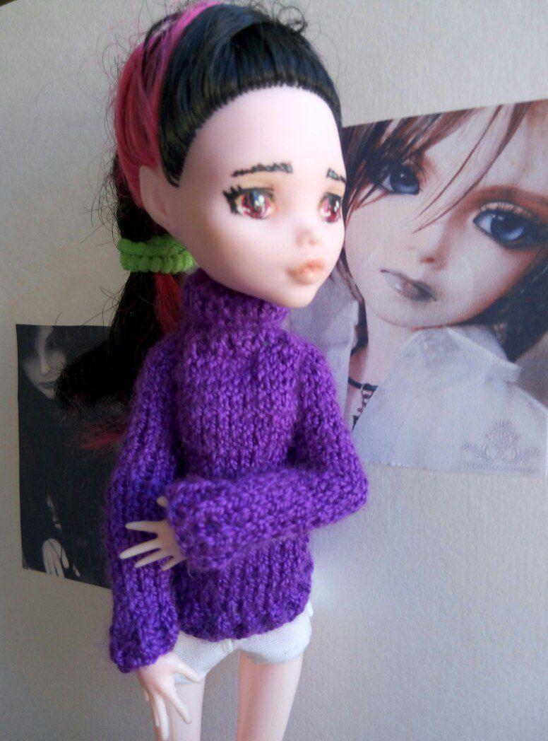 теплный гольф вязаный кофта кукла для свитер куклы мх