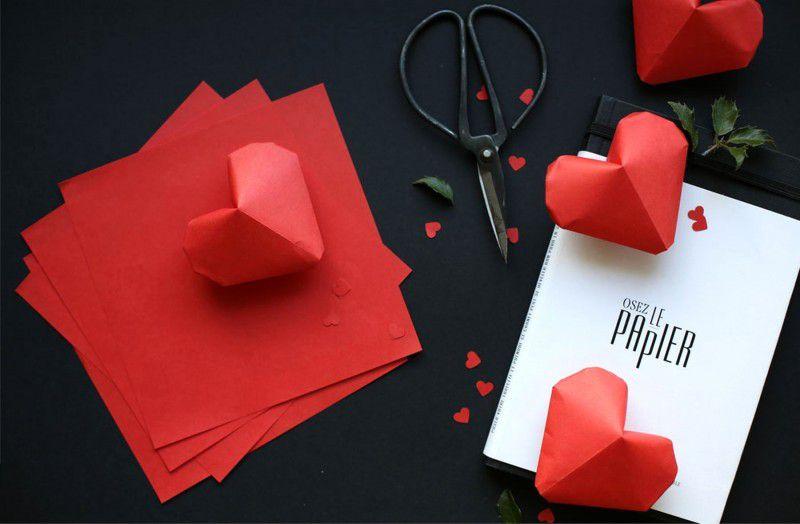 Сердечки из бумаги 12