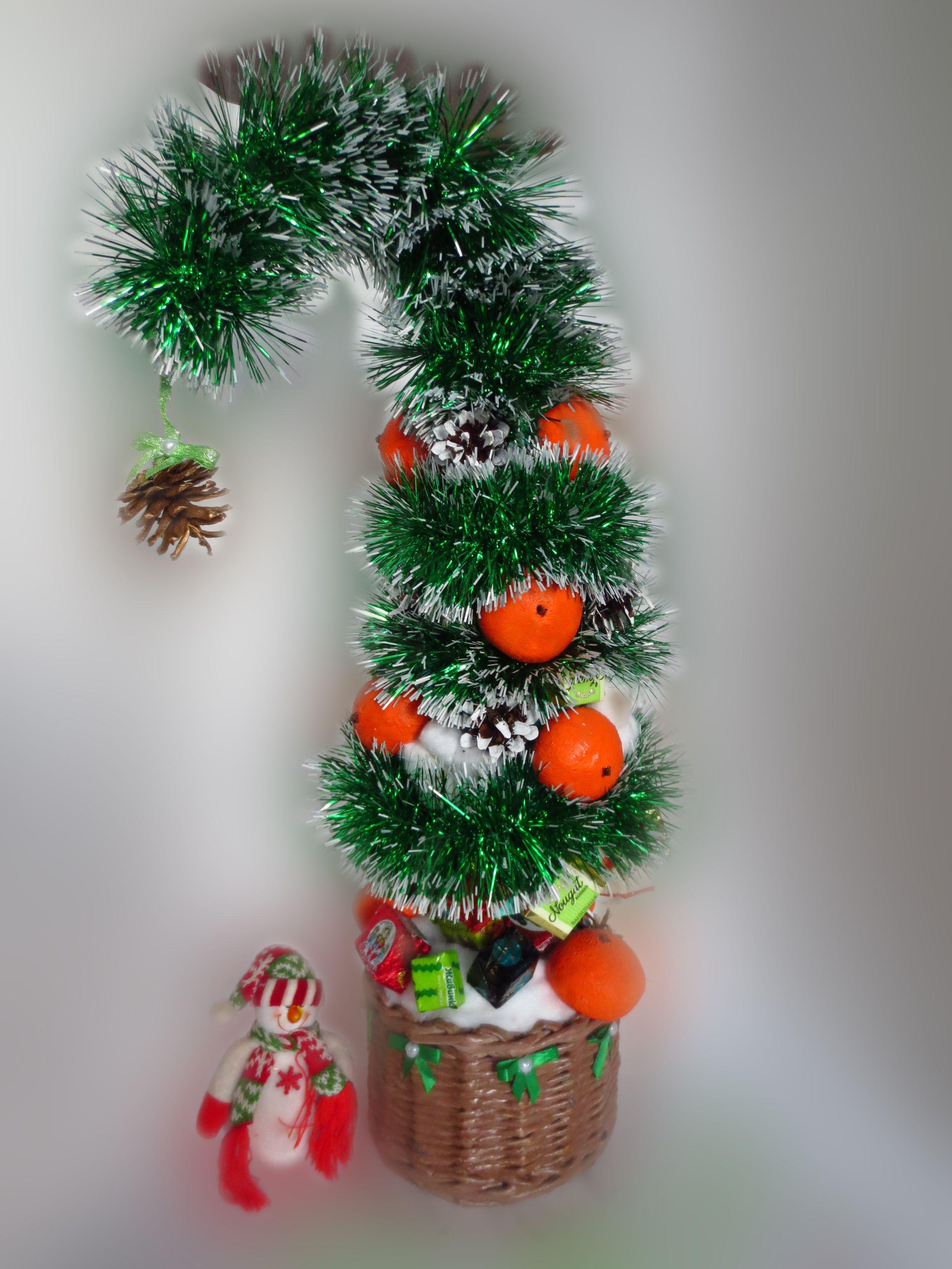 мандарины подарки елка декор интерьер шишки новыйгод