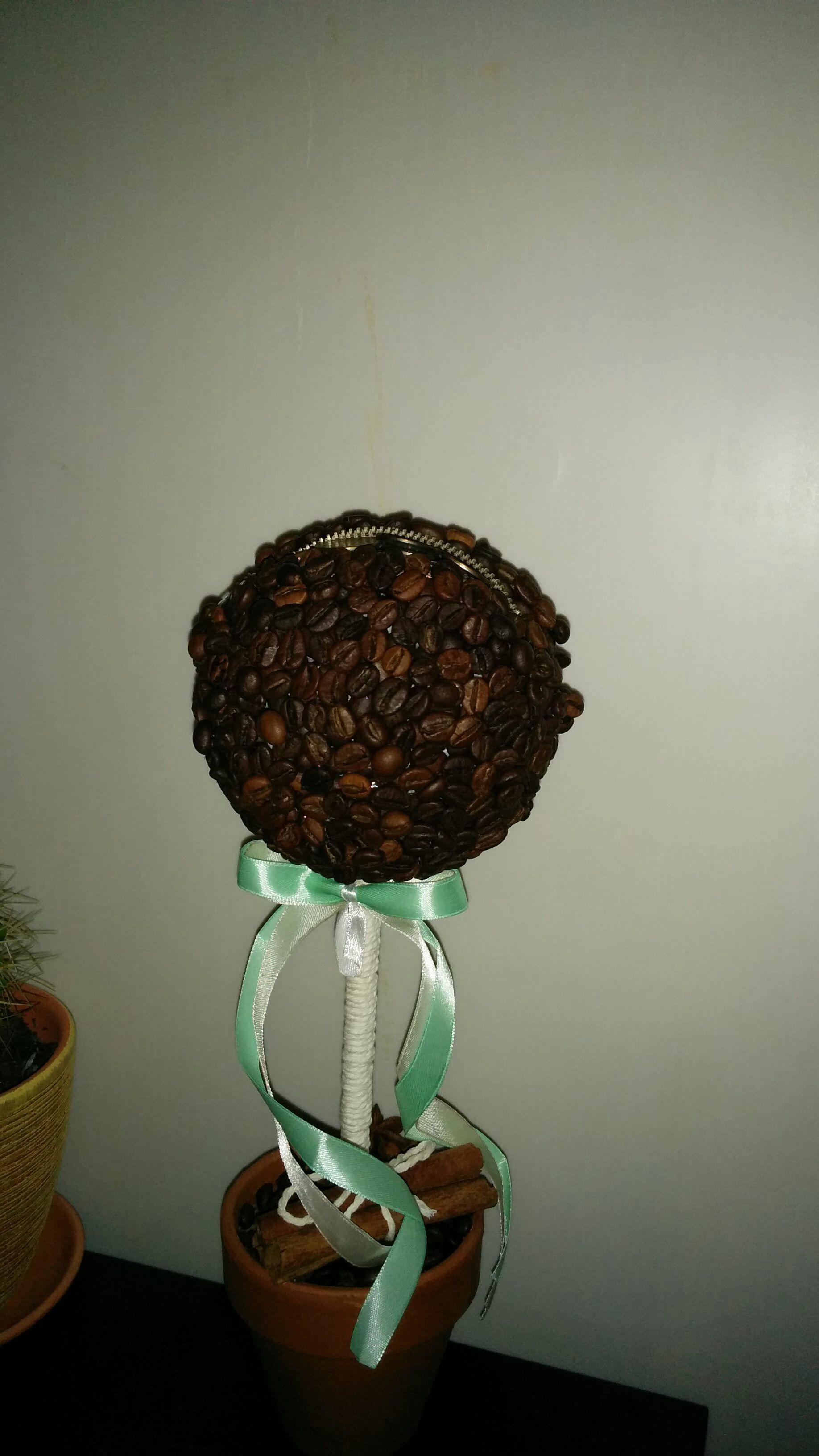 подарки ручная кофейное дерево топиарий интерьер работа кофе кофеман