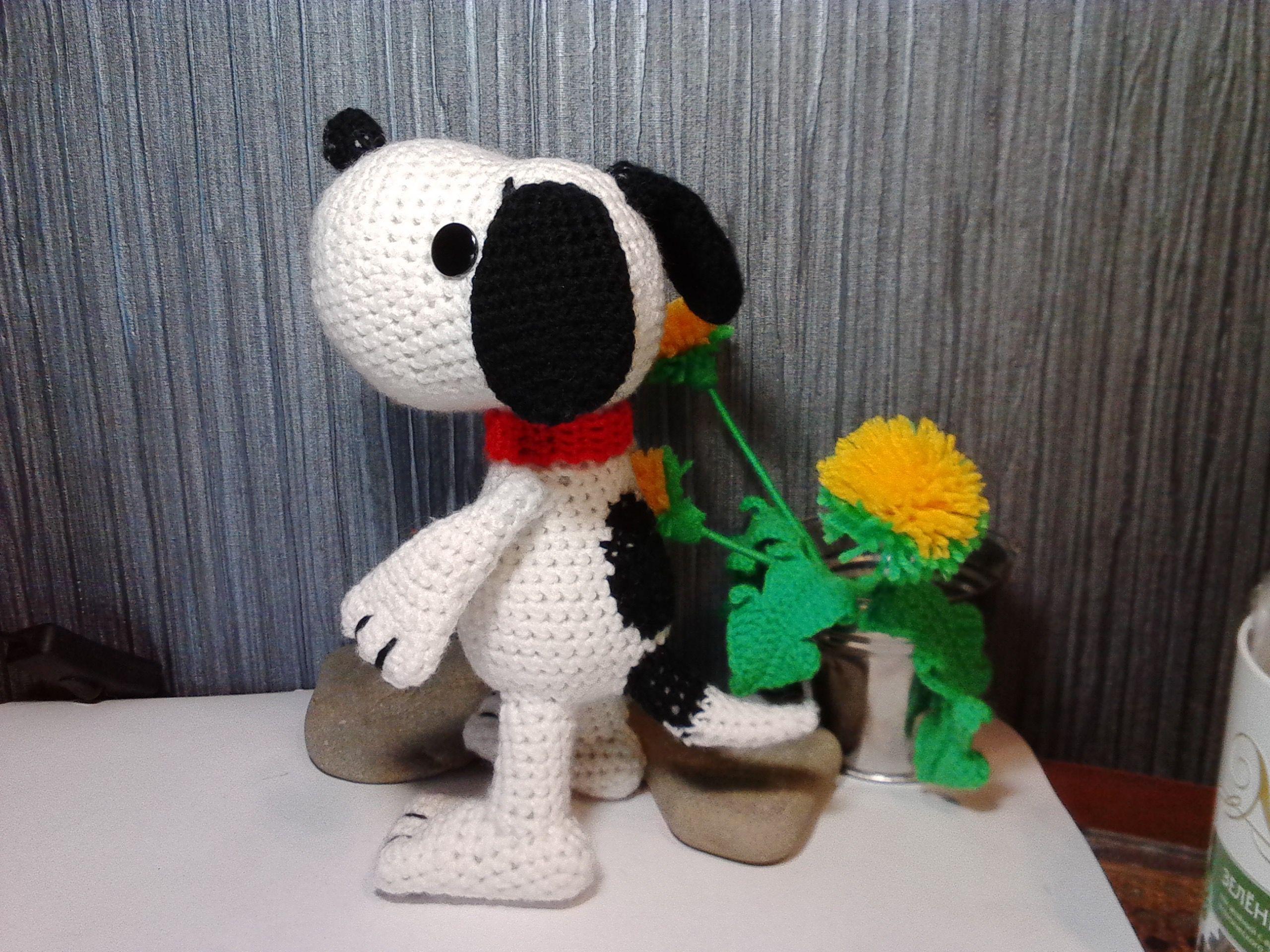 вязание игрушки вязанные собака год мастер 2018 класс снупи крючком щенок песик собаки пес