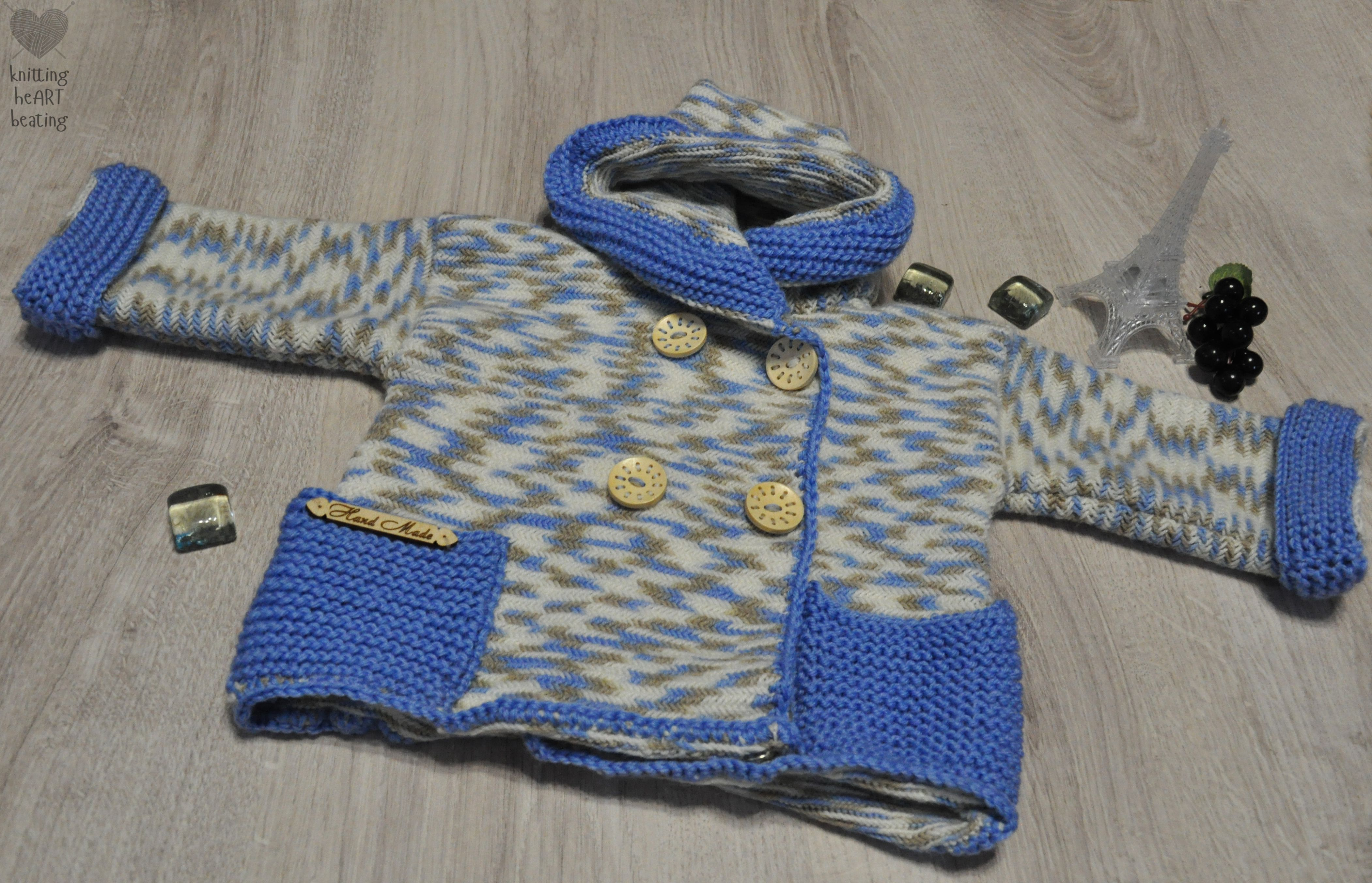 вязаниеспицами вязаноепальто пальтодлядевочки голубойкардиган кофтаскапюшоном вязаниедлядетейтеплаякофта ручнаяработа