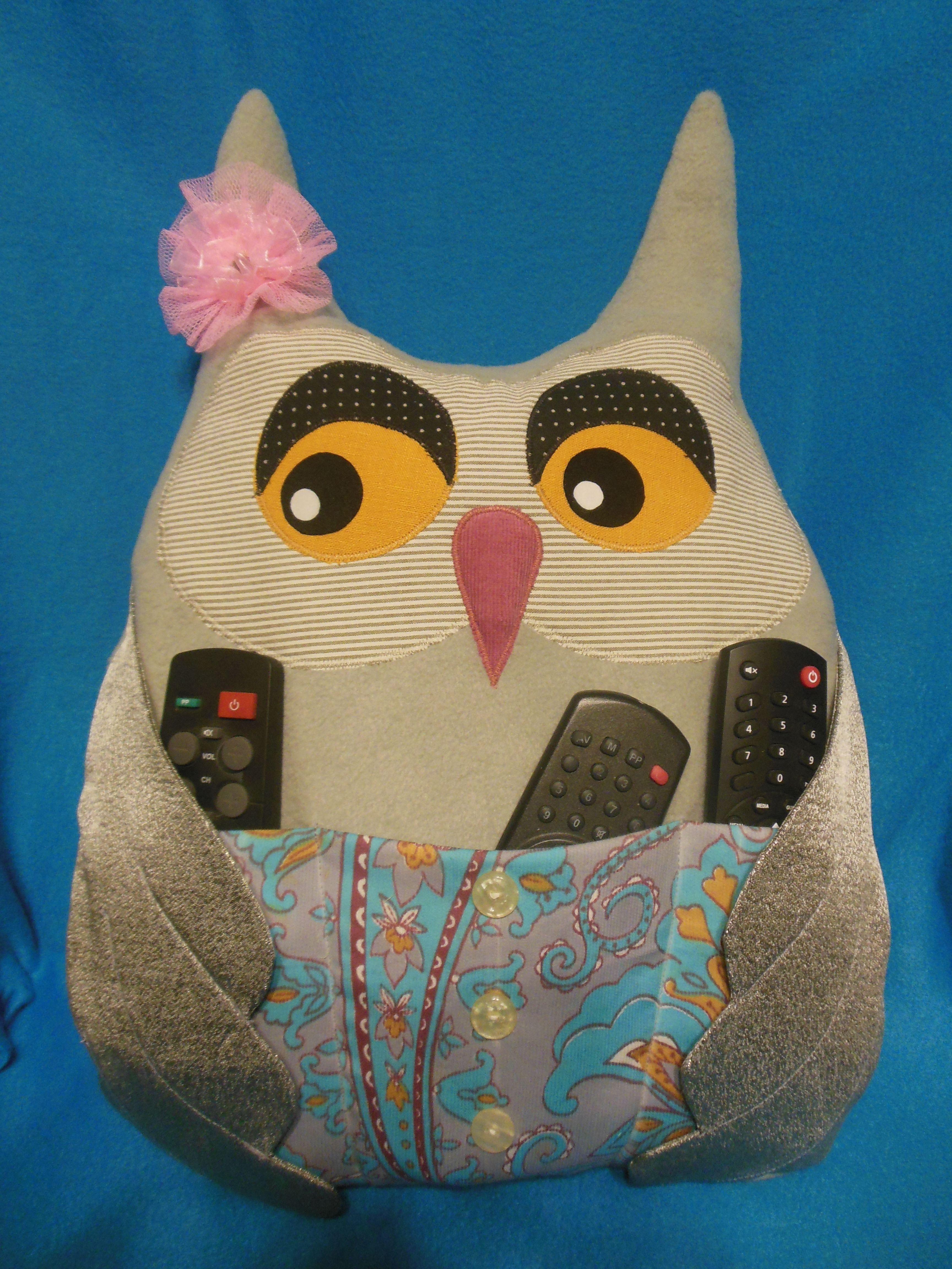 пультодержатель подушка сова ручнаяработа подарок