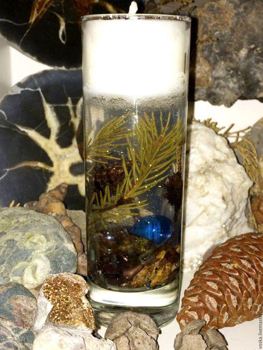 свеча подарок природа свечи сувенир гелевая ручной работы огонь