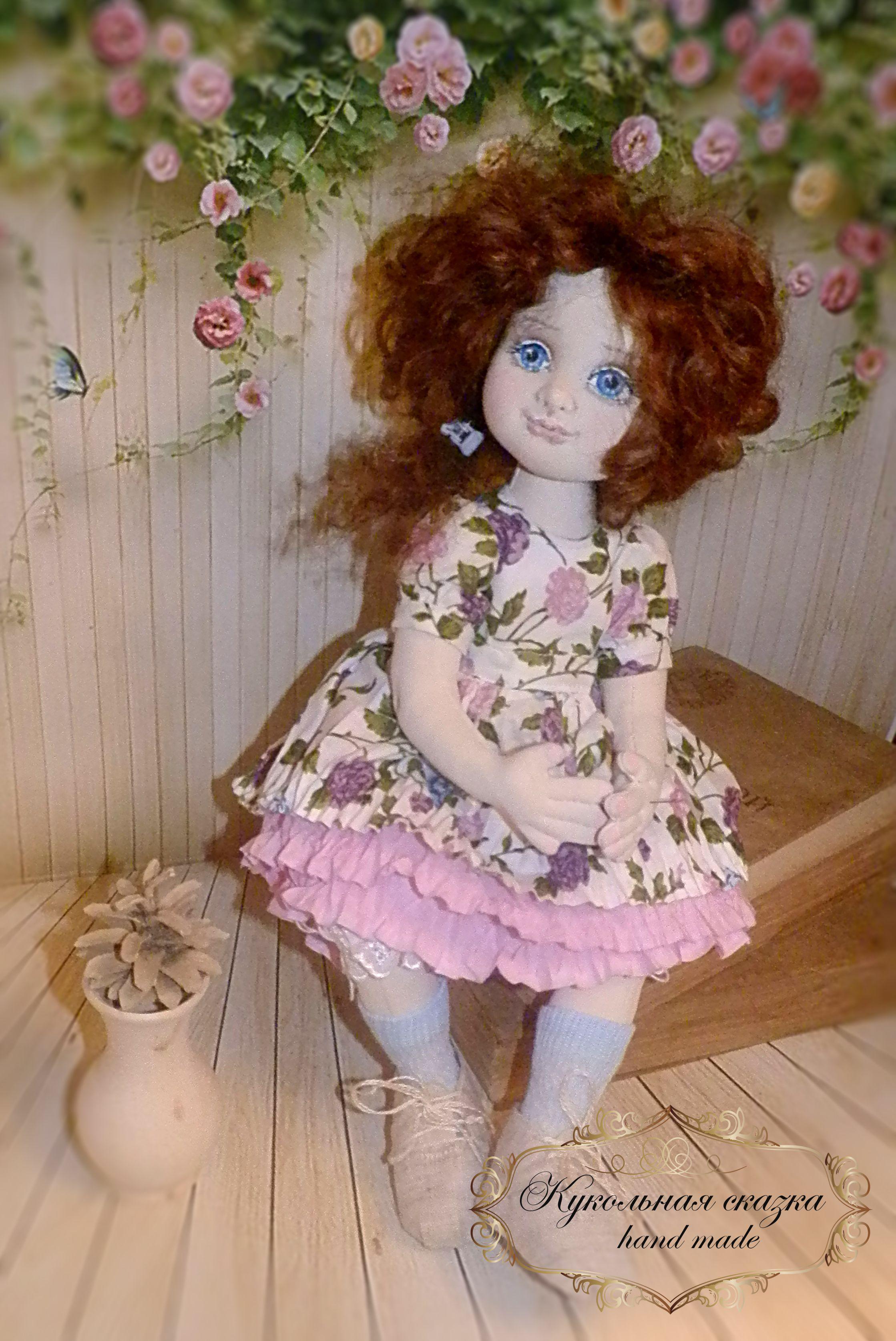 handmade работы ручной кукла текстильная в подарок