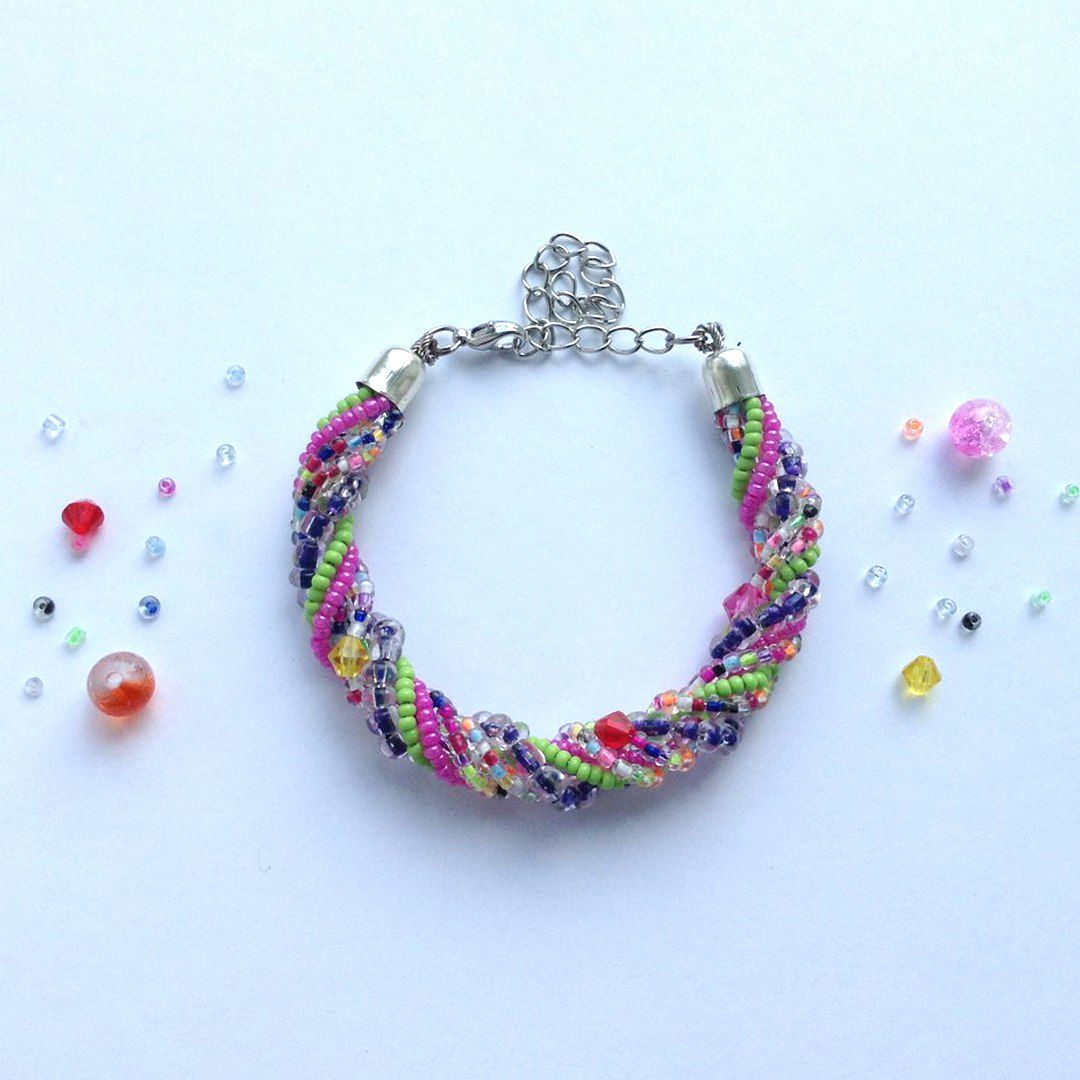 разноцветный бусины украшения бисер браслет handmade бижутерия