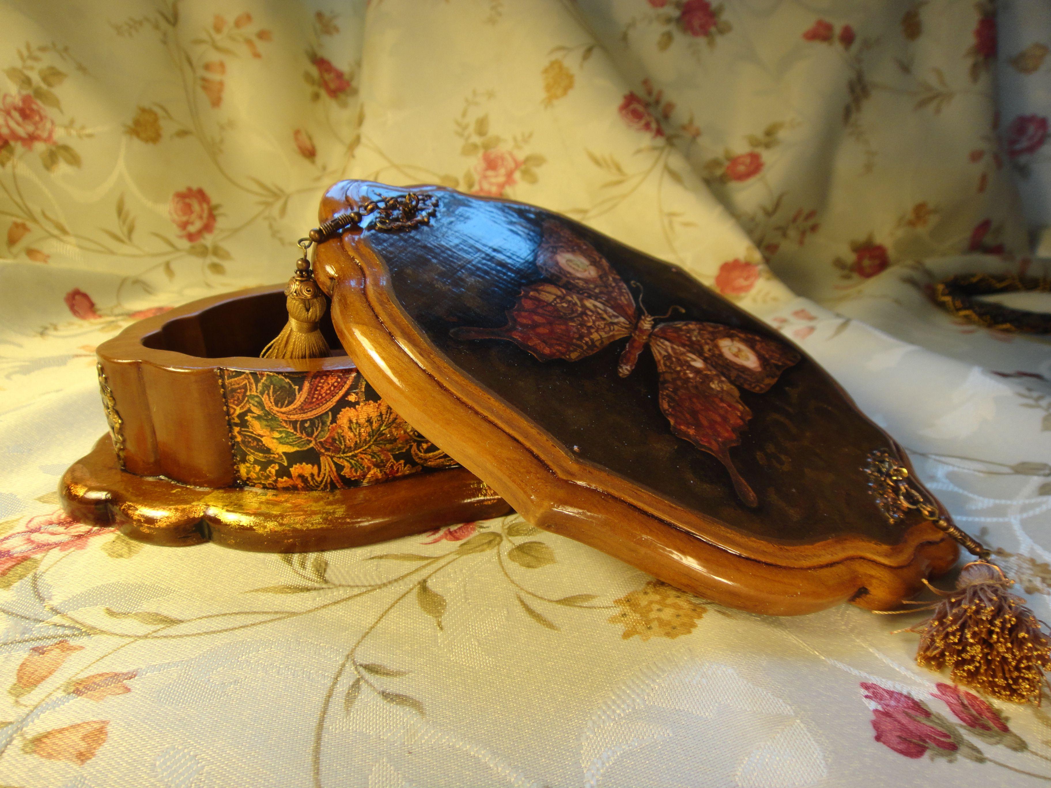 декупаж шкатулка девушке деревянная подарок