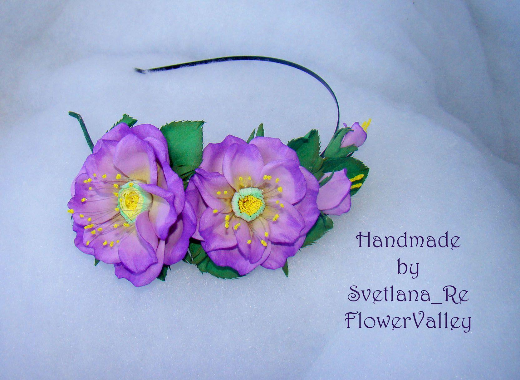 цветы ободок шиповник украшения свадьба праздник