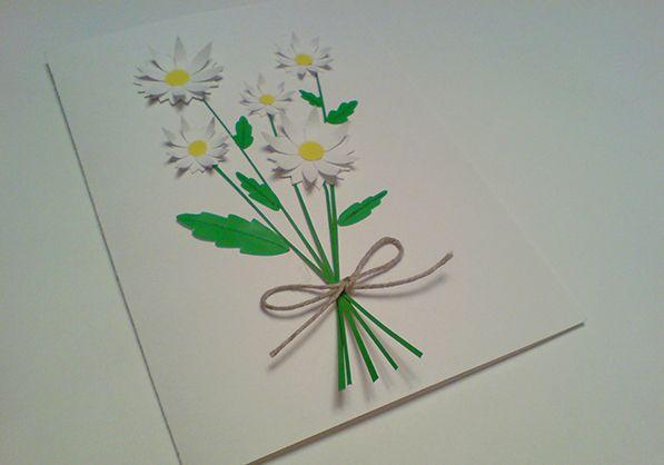 Объемные открытки с ромашками, онлайн