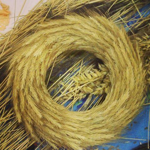 новогоднийвенок пшеница веноквенокизпшеницы венок шишки подарок