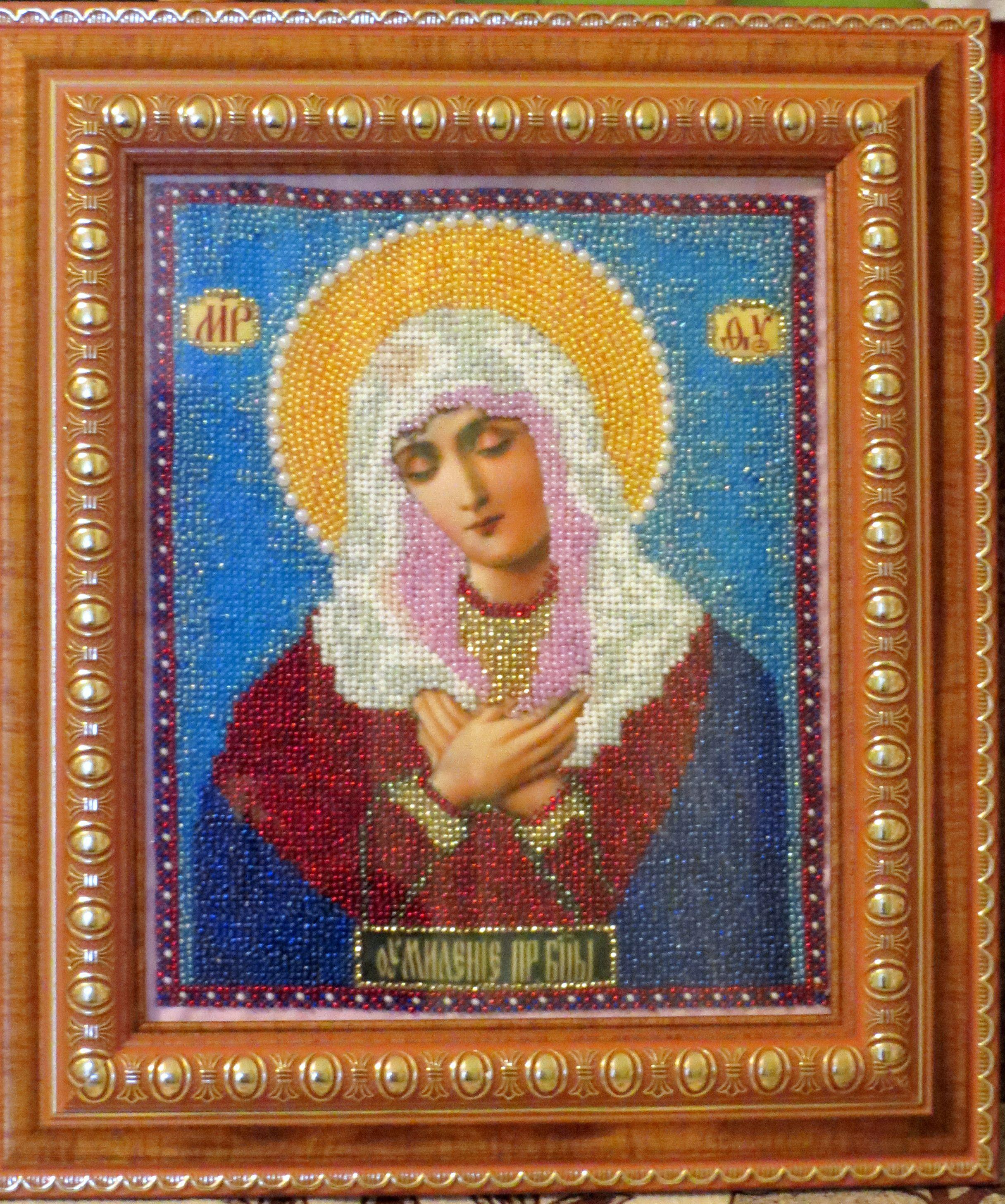 из бисера умиление икона богородица