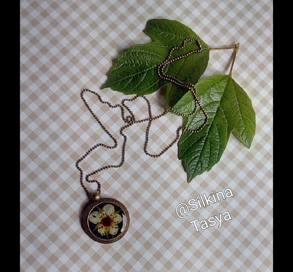 клубничный цветы сухоцветы белый подвеска клубника черный лето эпоксидной эпоксидка смола кулон подарок эпоксидная