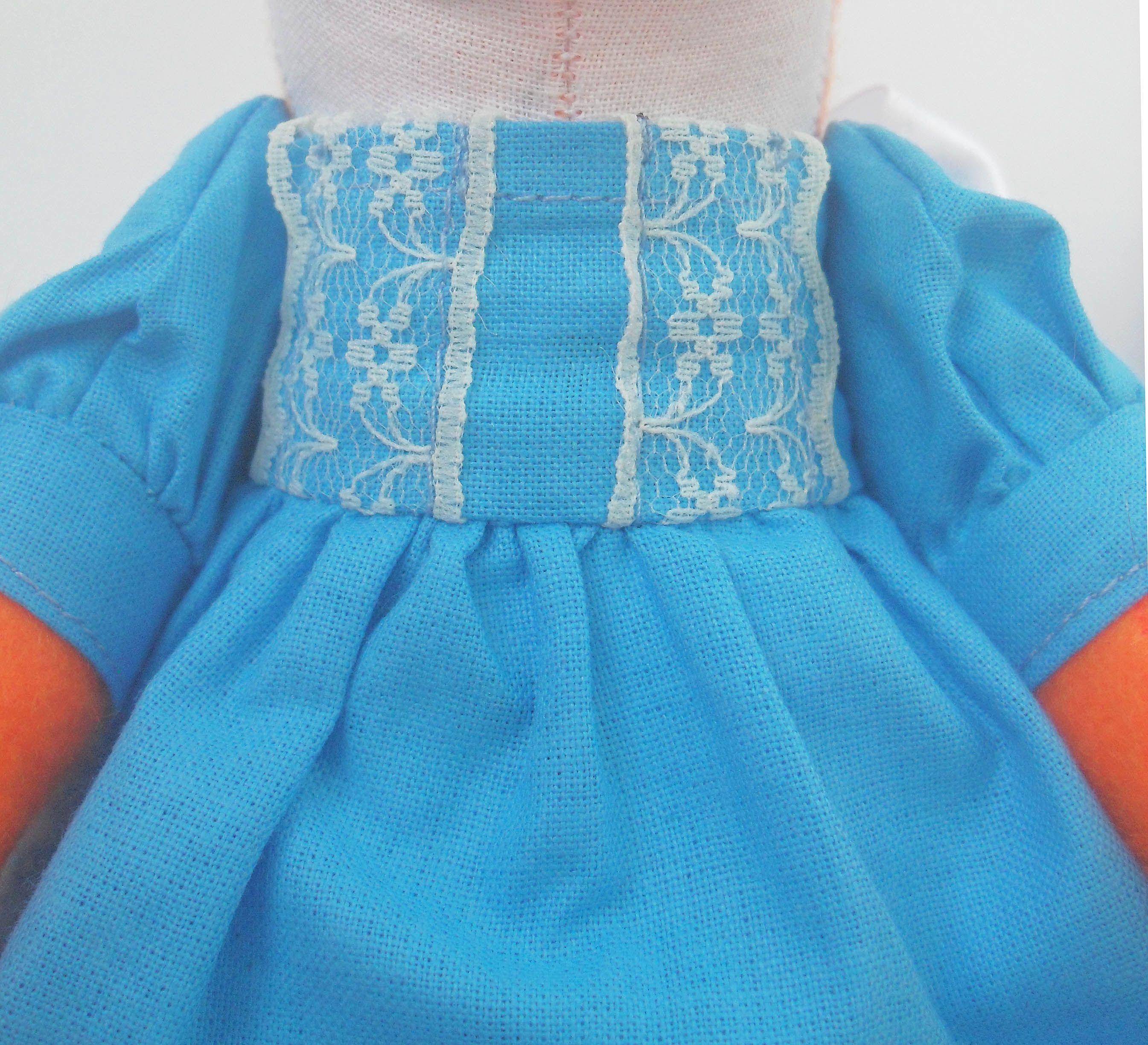 интерьерная синий игрушка кукла лиса мягкая ручной работы белый подарок рыжий оранжевый текстильная