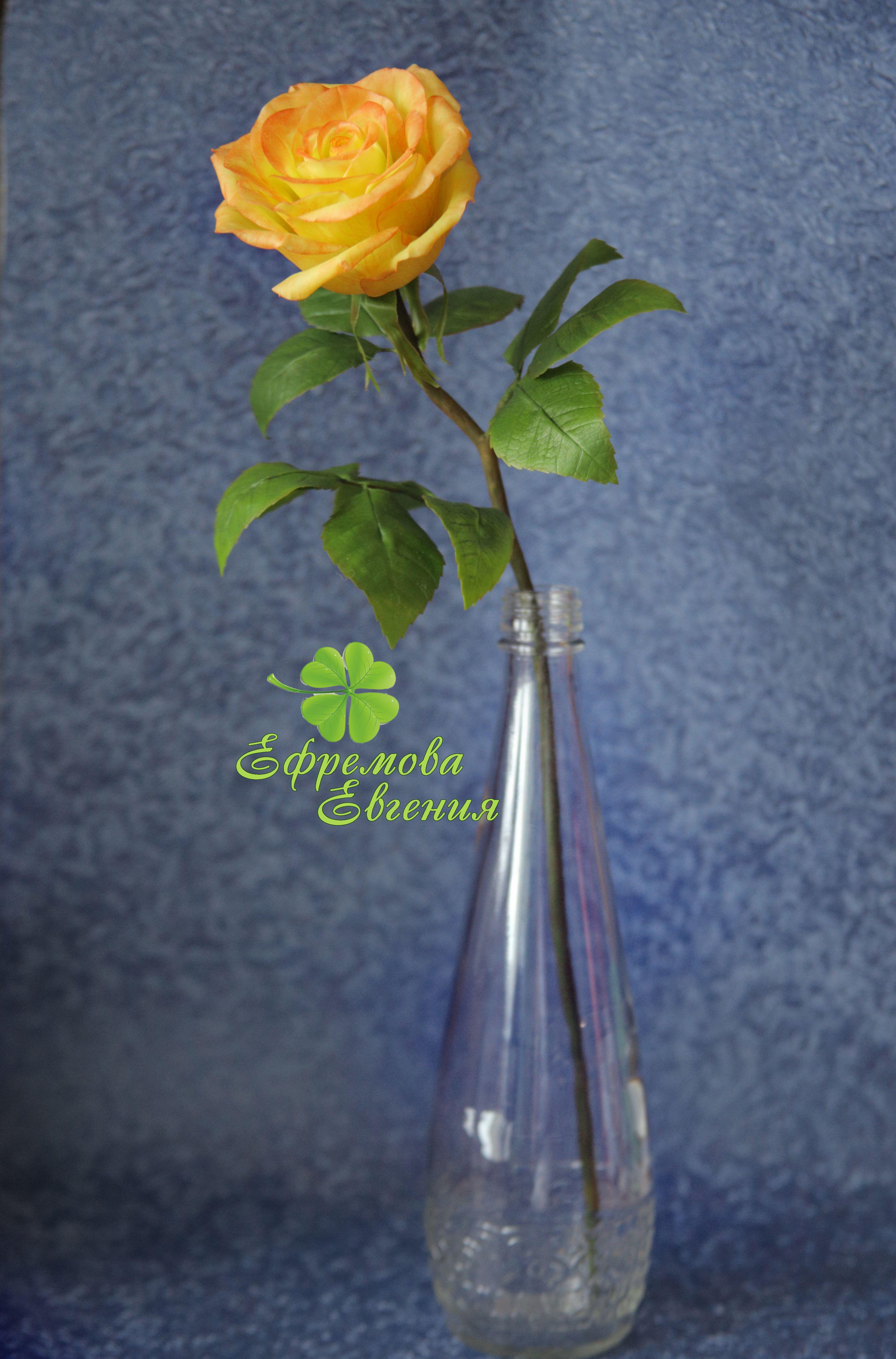 подарокдевушке лепкацветов керамическаяфлористика розаизхолодногофафора полноразмернаяроза искусственнаяроза роза подарок