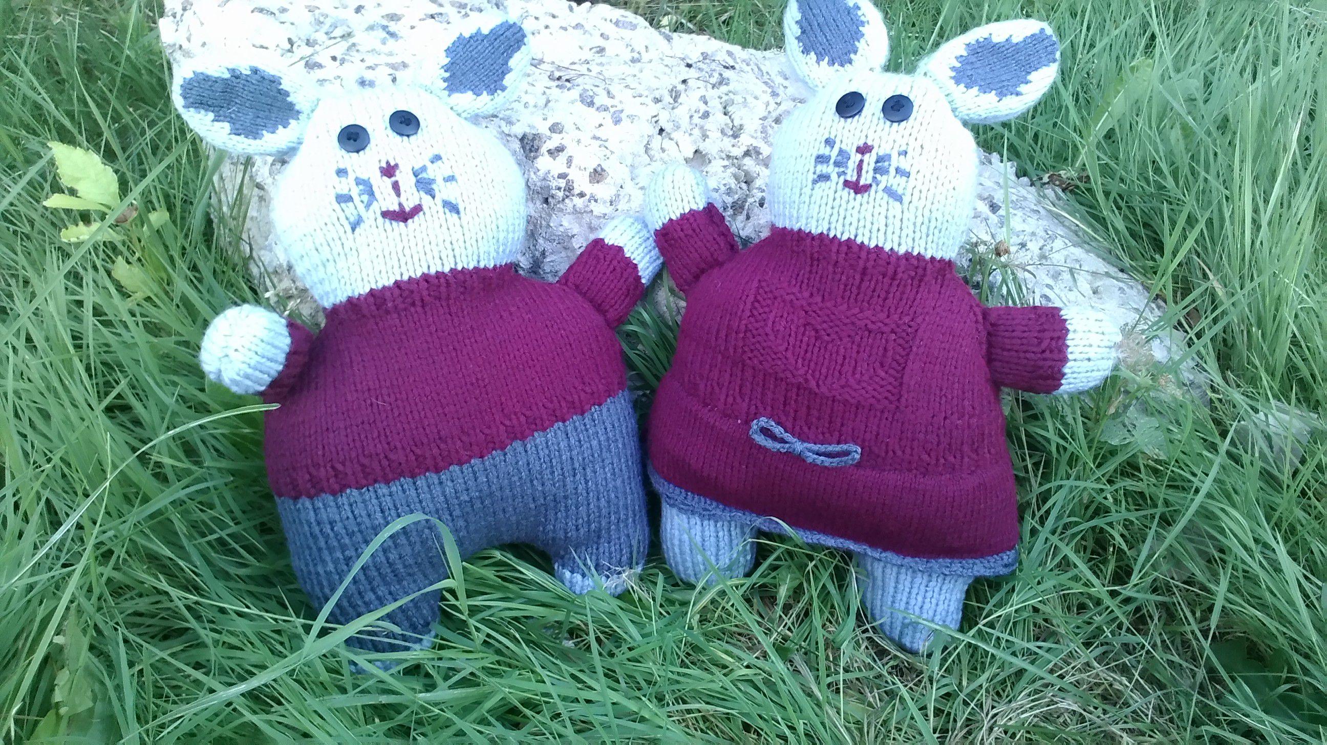 руками связать игрушки подарок пряжи зайки вязаное кролики спицами своими