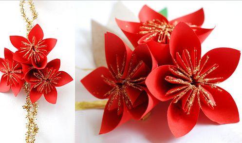 из бумаги оригами цветы