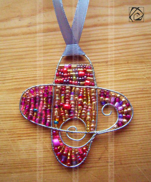 малина проволока бисер кулон розовый оригинальная бисероплетение украшение летнее лето красный подвеска малиновый подарок оригинальный