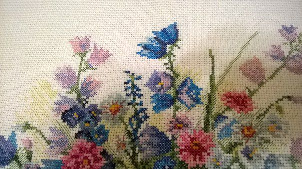 подарок картина астра интерьер лето цветы дом колокольчики