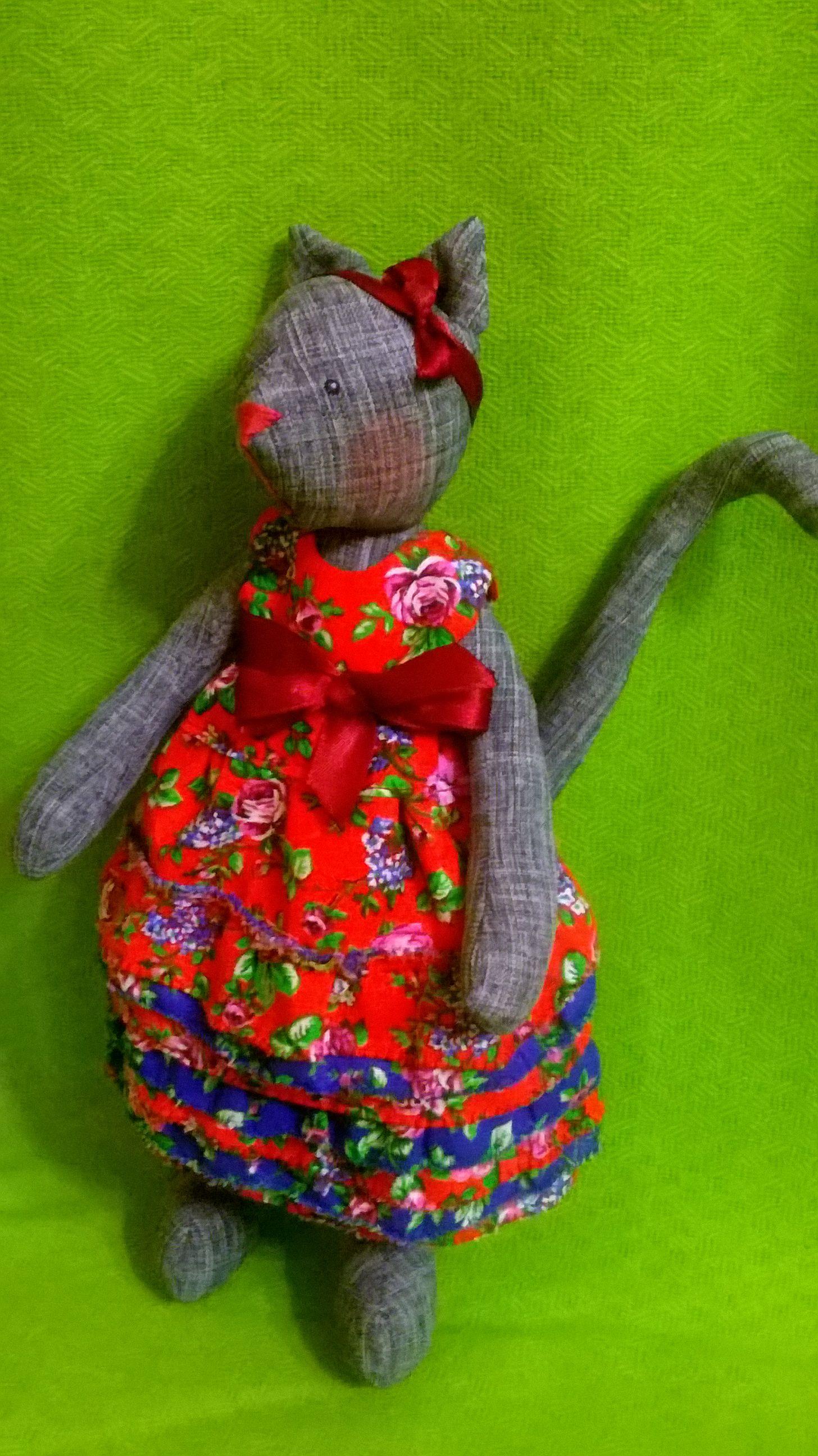 кошечка работы ручной девочки кукла кошка для подарок