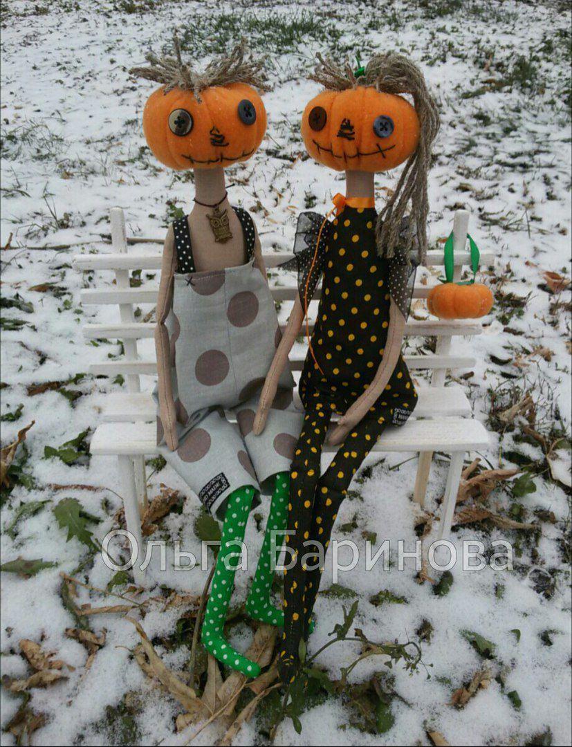 своими руками необычное куклы тыква хеллоуин праздник прикол подарок пара