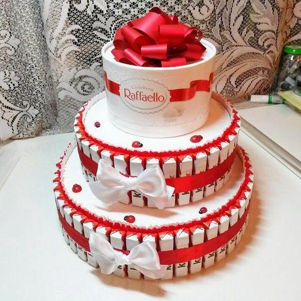 тортизкиндеров киндерсюрприз рафаэлло тортвподарок идеяподарка вдохновение необычныйподарок сделайсам торт праздник креатив своимируками хендмейд подарок
