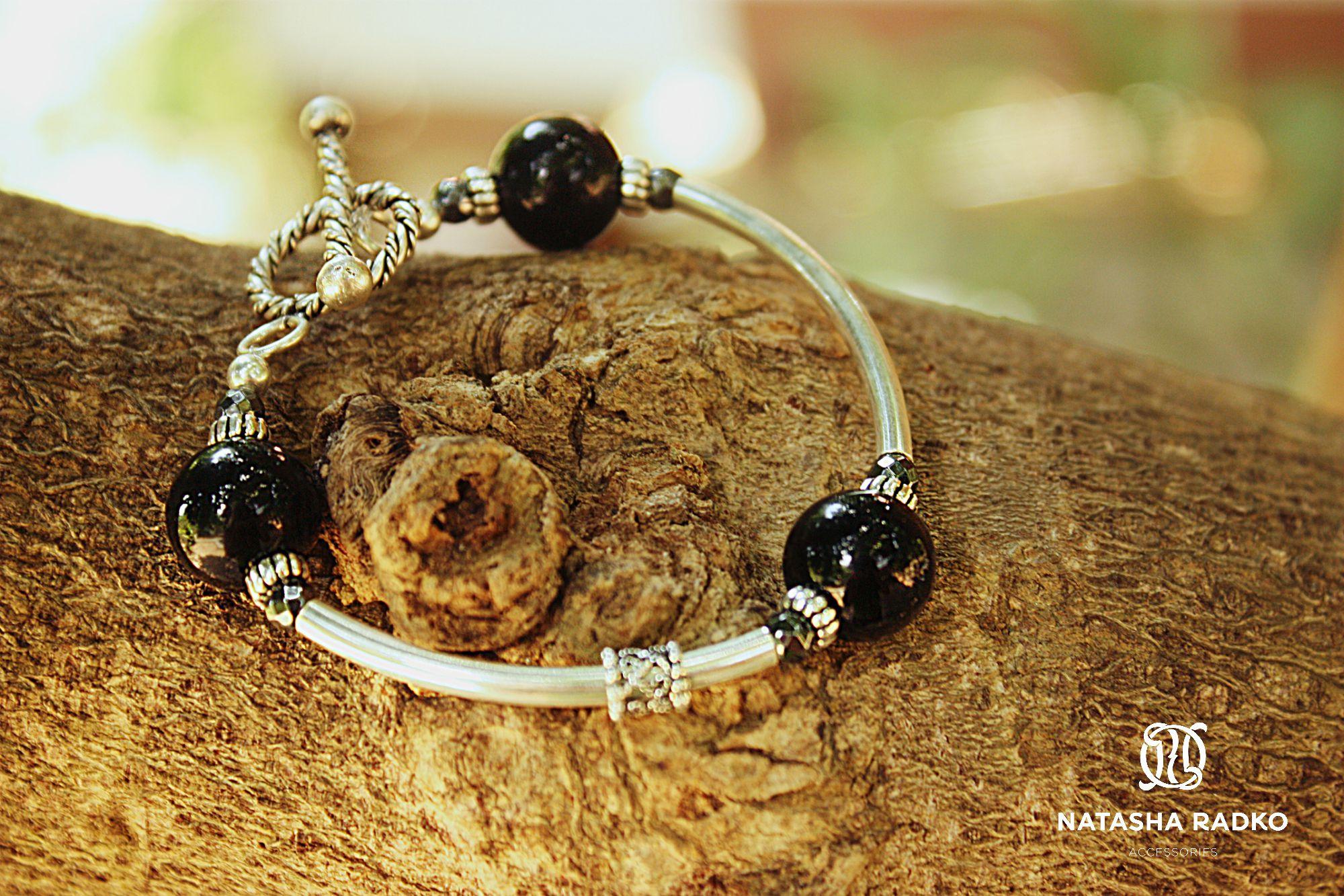 подарок браслет агат украшение серебро камни натуральные