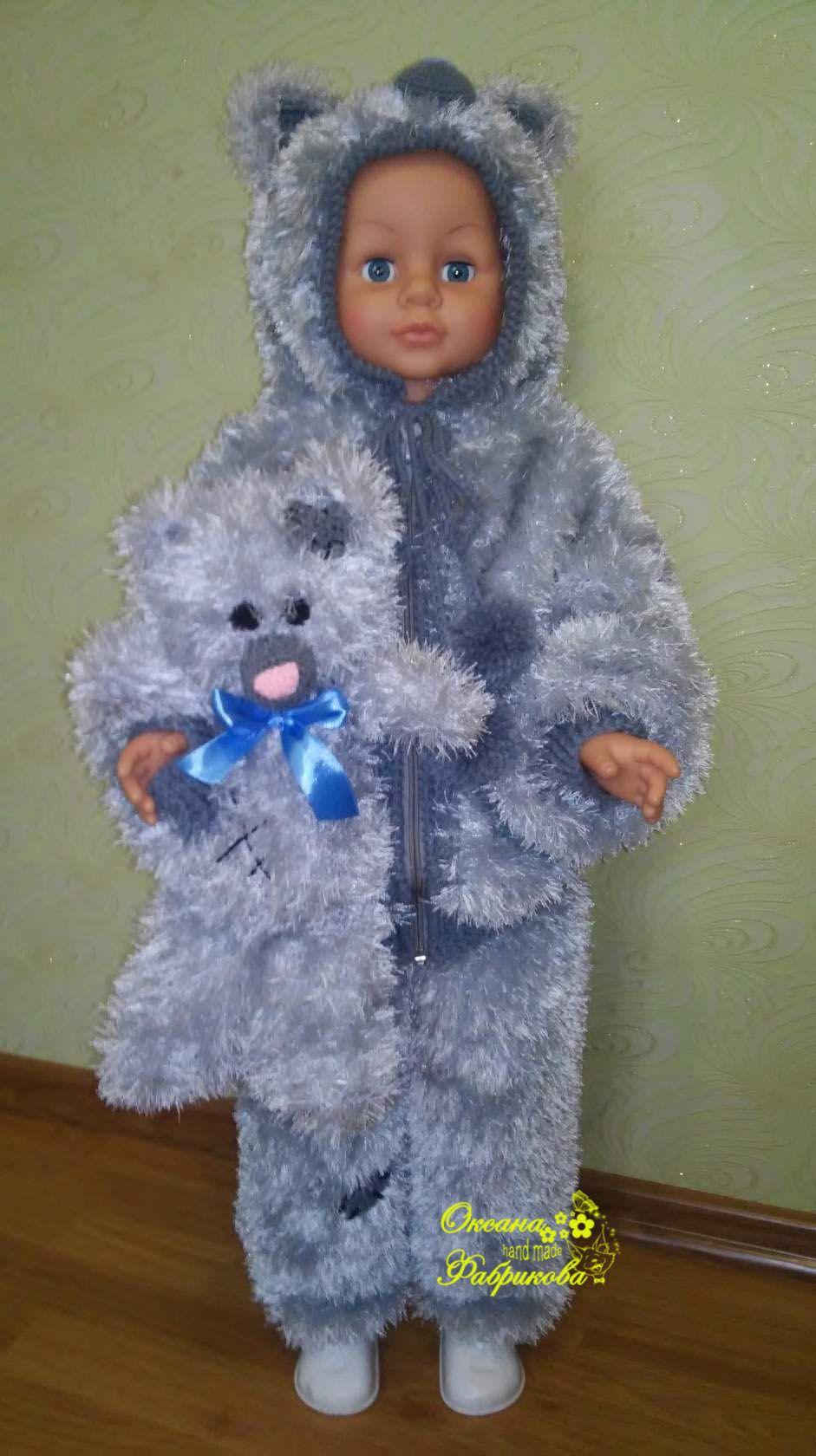 детское тедди на детский вязание костюм капюшоном с заказ рукоделие спицами мальчика мишка для детская кофта