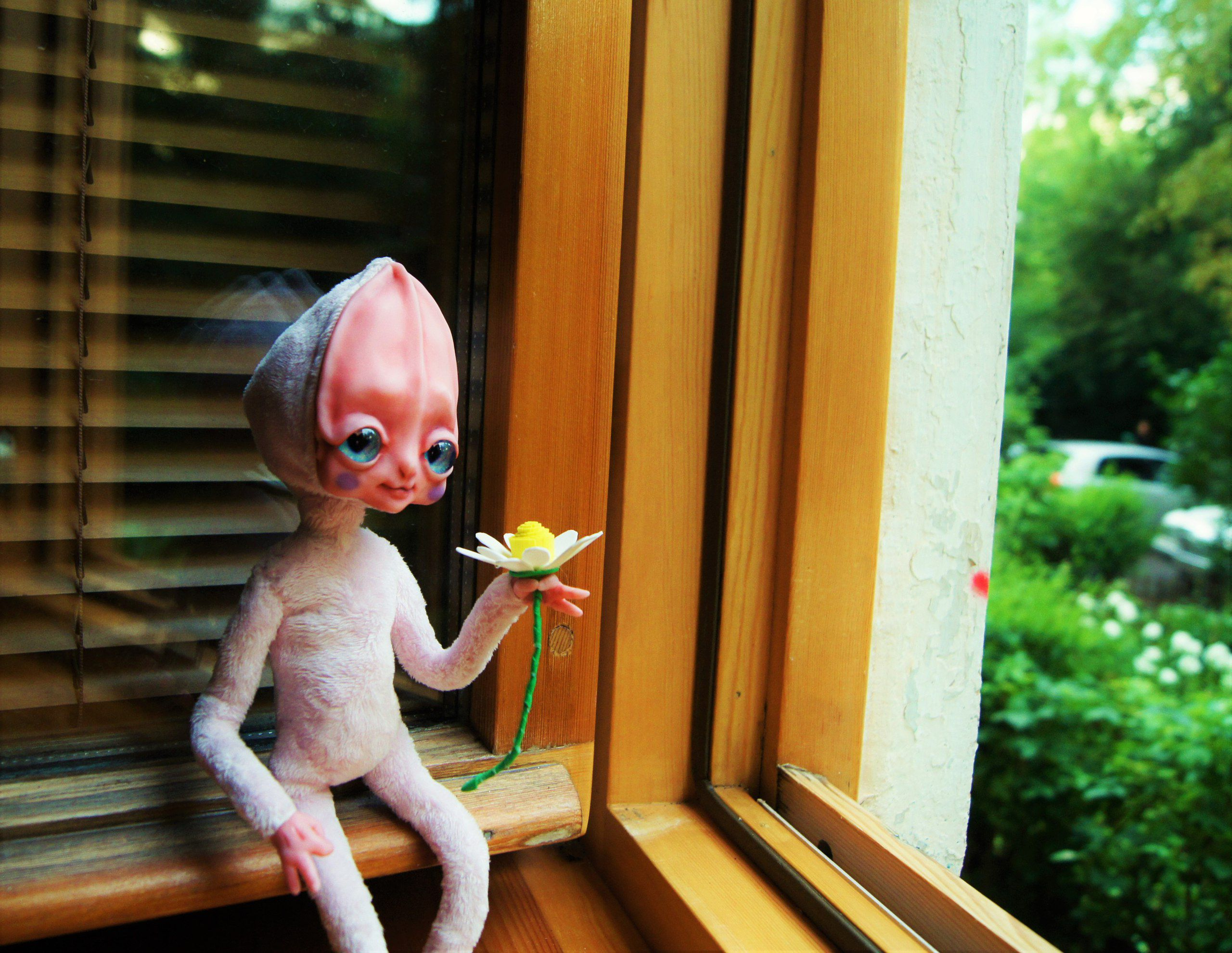 инопланетянка каркасная интерьерная кукла ручнаяработа пришелец