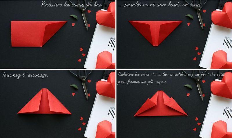 Сердечки из бумаги 9