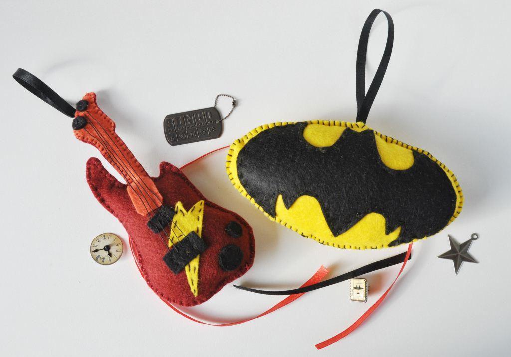 поделкиизфетра идеяподарка рок саше сделайсам бэтмен подаркидлямужчин креатив своимируками хендмейд гитара подарок