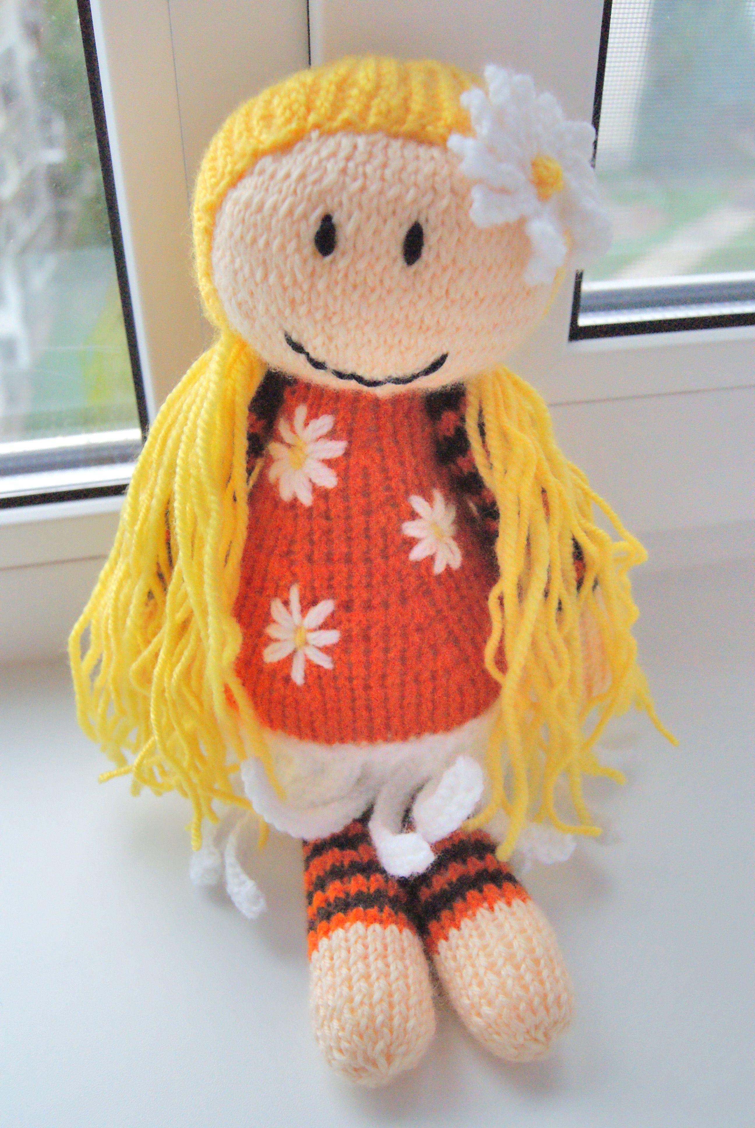 подарок кукла вязание интерьернаяигрушка вяжуназаказ детям куколка златовласка интерьернаякукла вязаниеназаказ