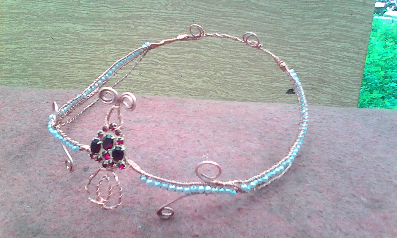 проволока диадема эльфы венец wire wrap медь