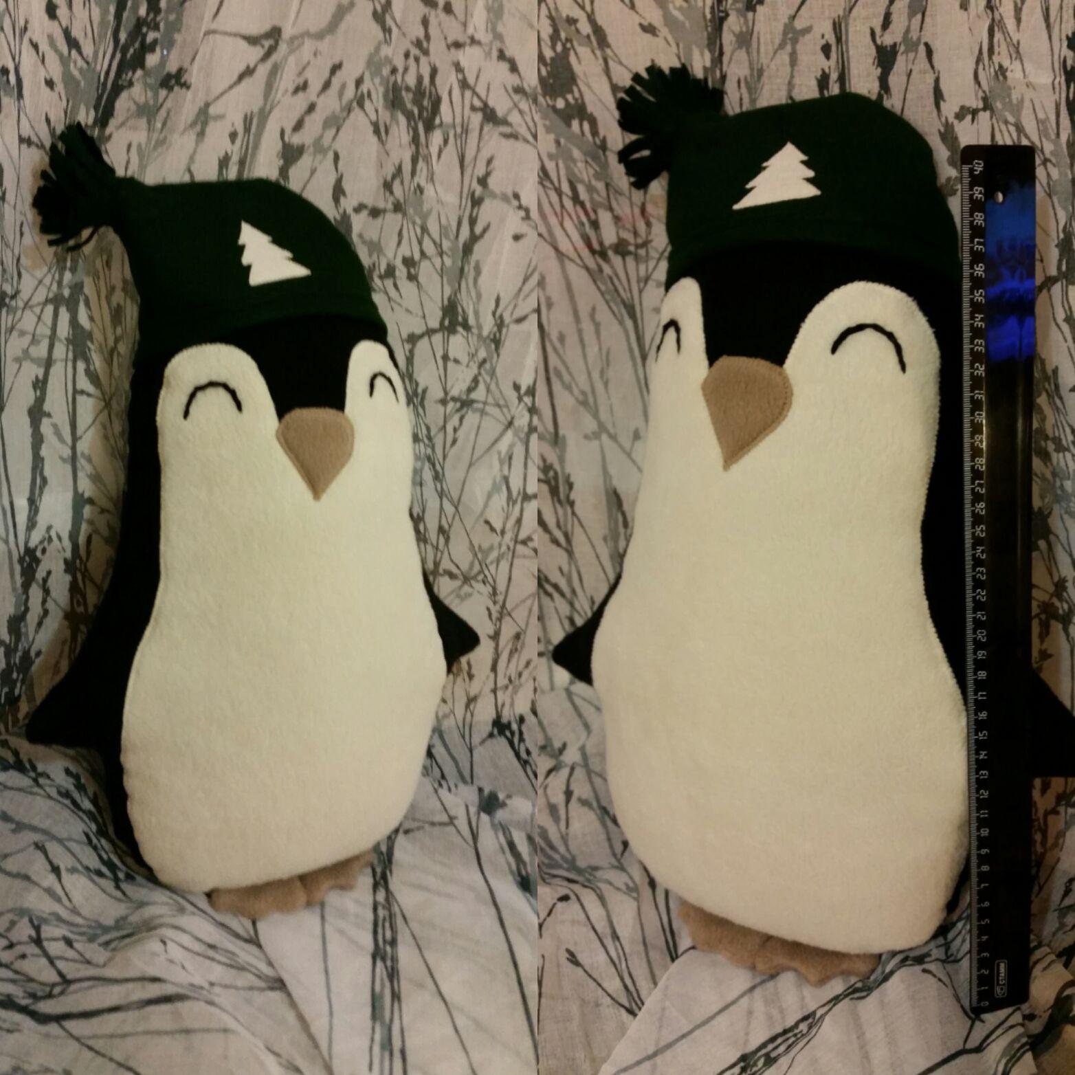 подушки игрушки anavhandmadepresents флис длядома новыйгод рождество счастье уют пингвин тепло детям подарки